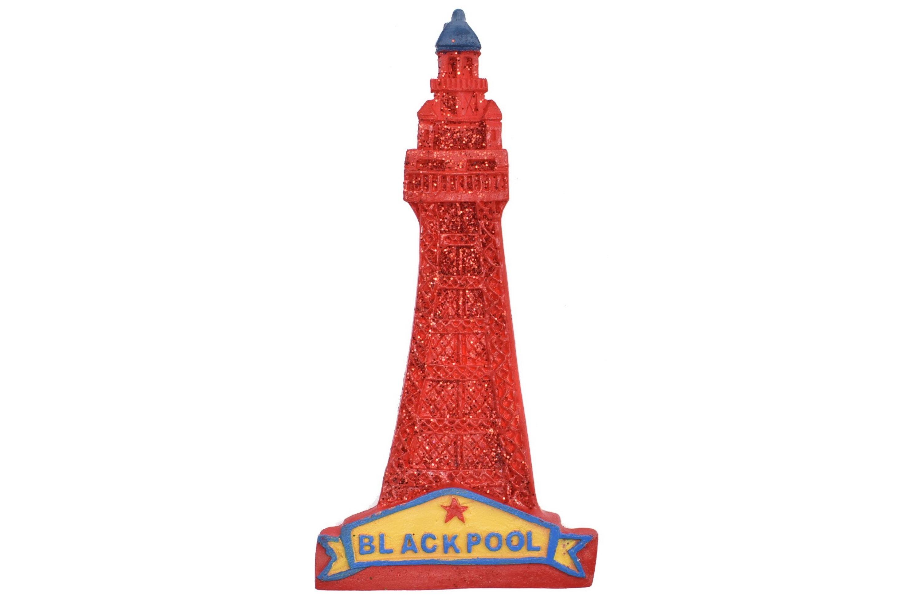 Resin Magnet Blackpool Tower Glitter 7.5cm