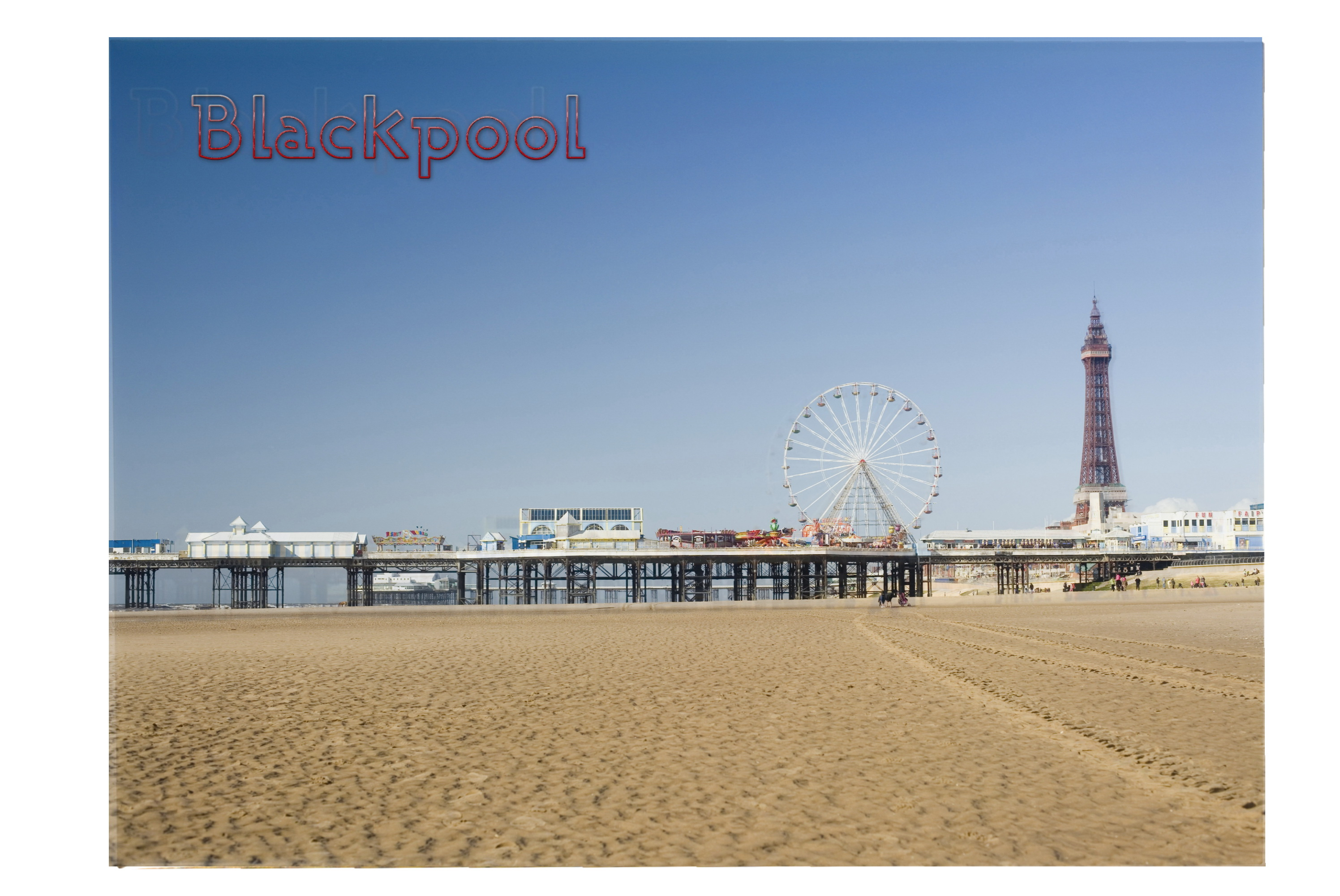 Picture Magnet Blackpool Beach & Pier