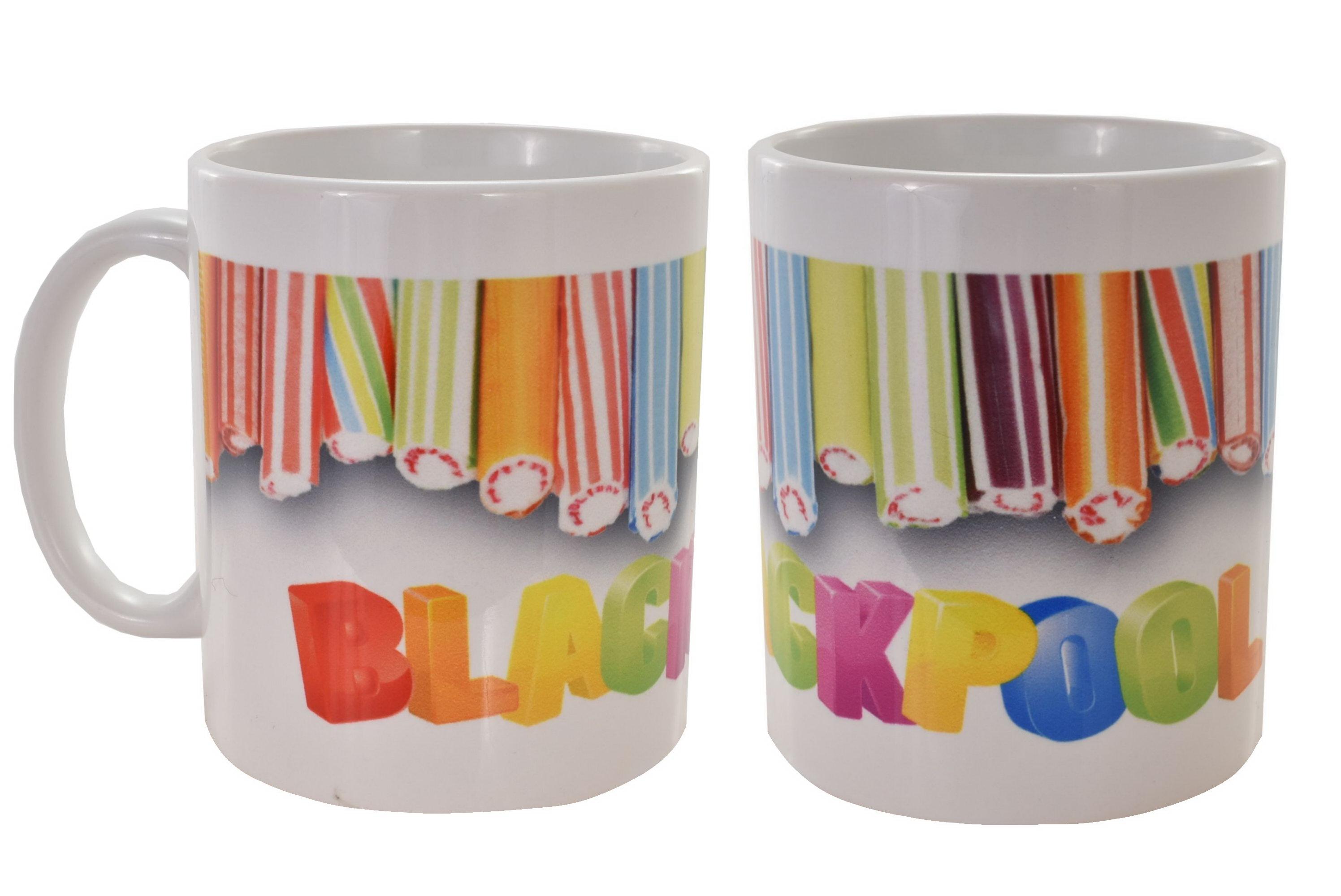 Ceramic Mug Blackpool Rock Design