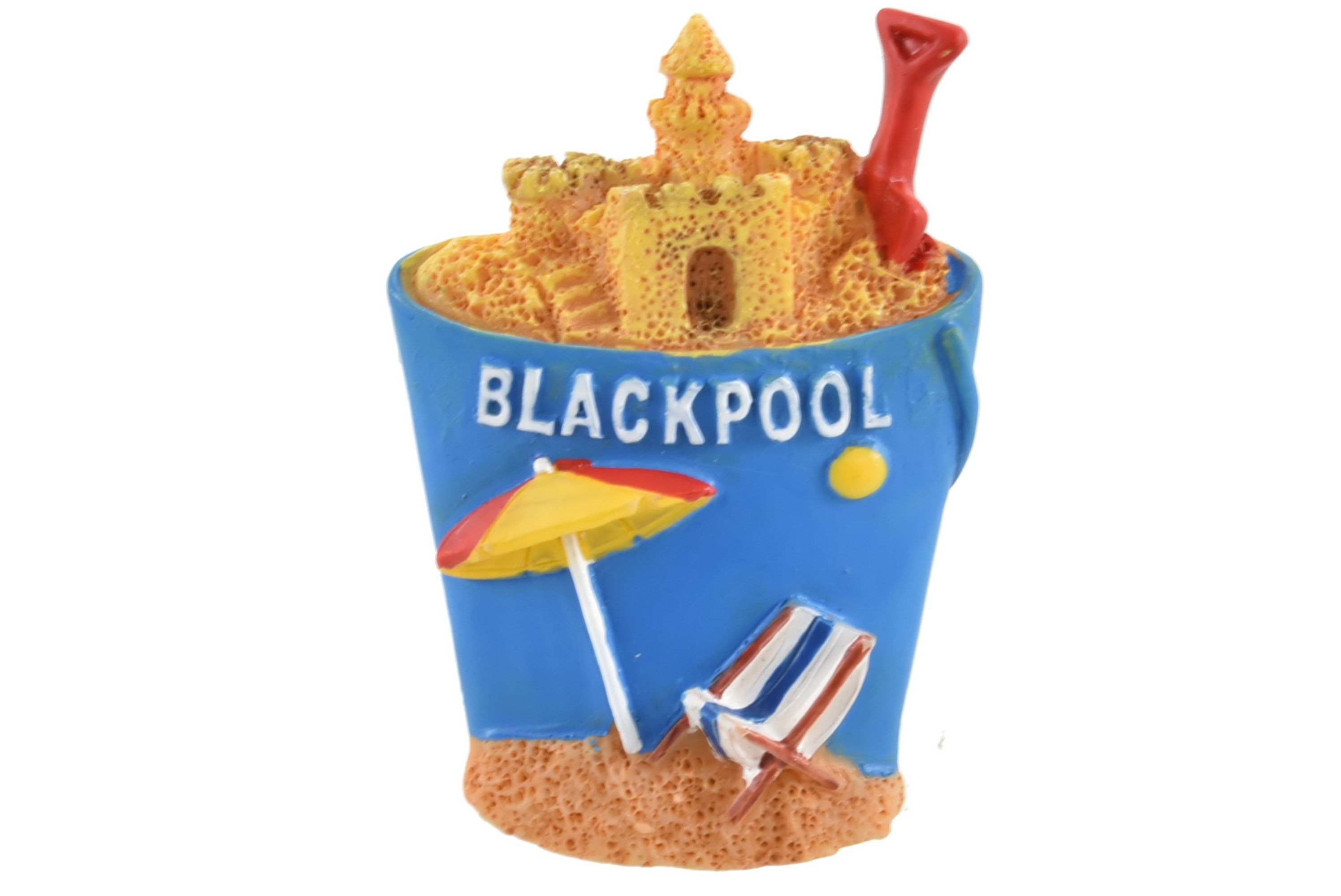 Blackpool Large Bucket Resin Magnet