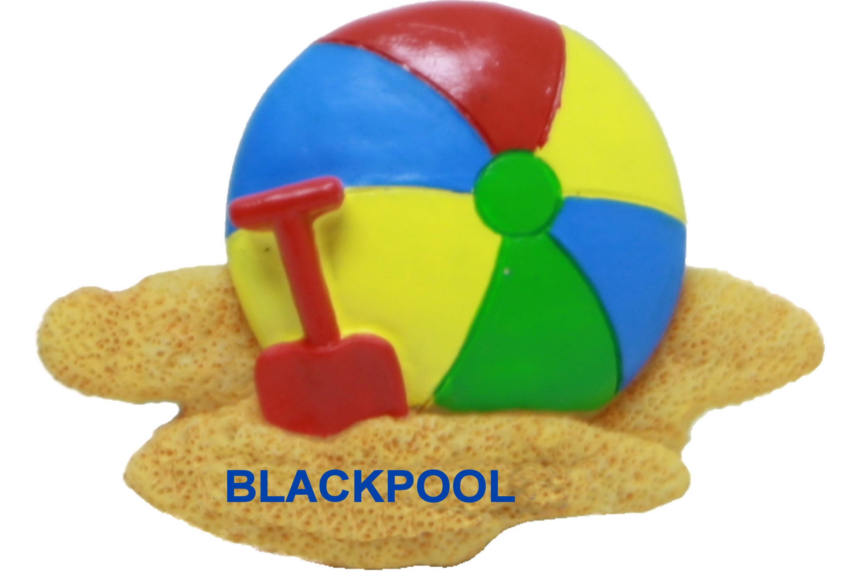 Blackpool Beach Ball Resin Magnet