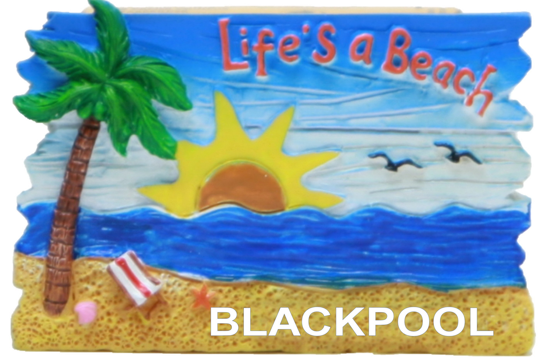 Blackpool Beach Scene Lifes A Beach Magnet