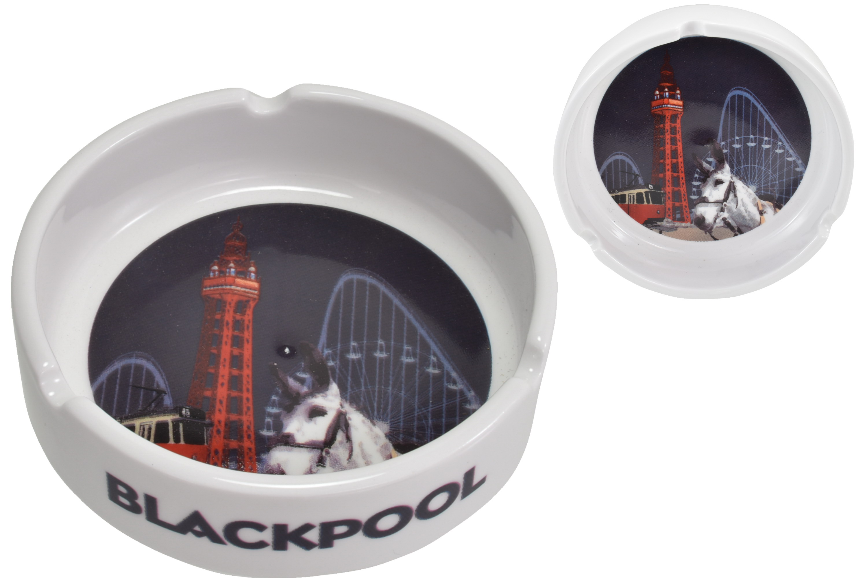Ceramic Ashtray Blackpool Composite 10cm