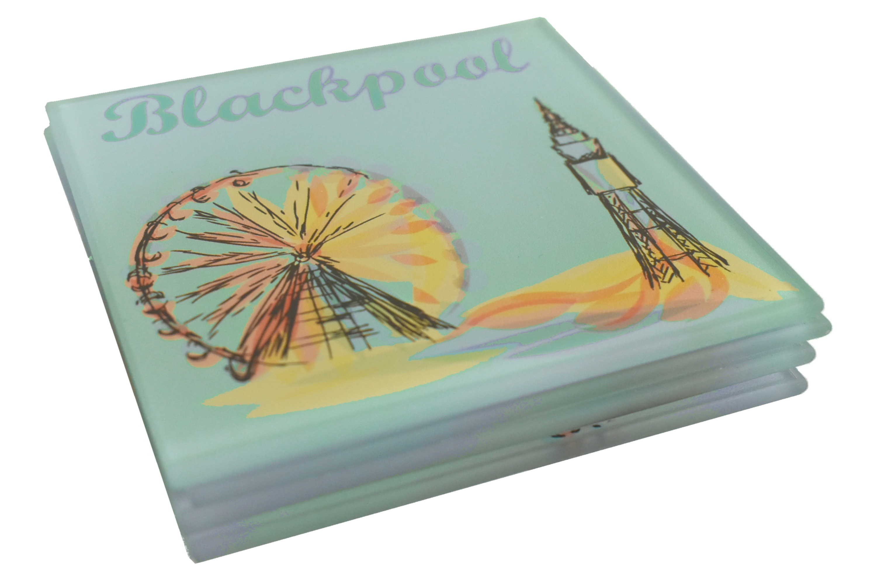 Blackpool Glass Coasters Abstract Design Set Of 4