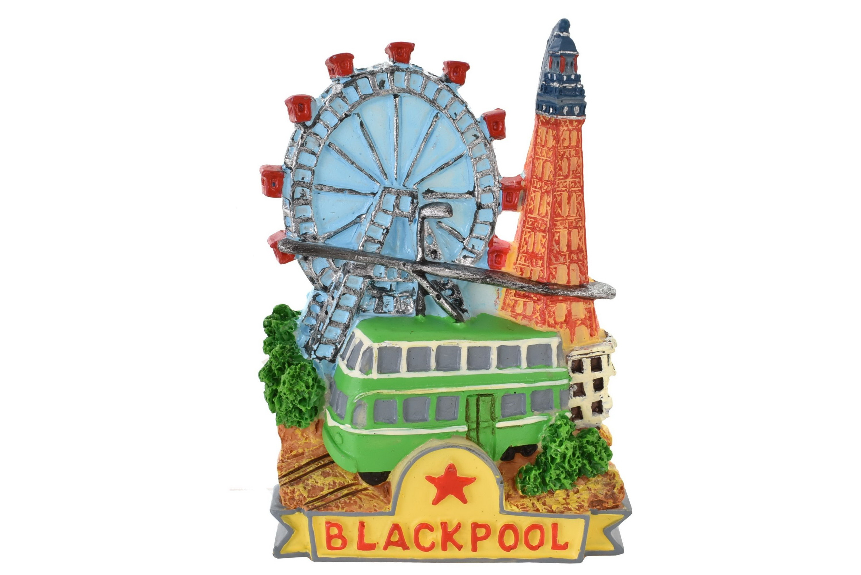 Blackpool Resin Magnet Tower/Tram/Wheel