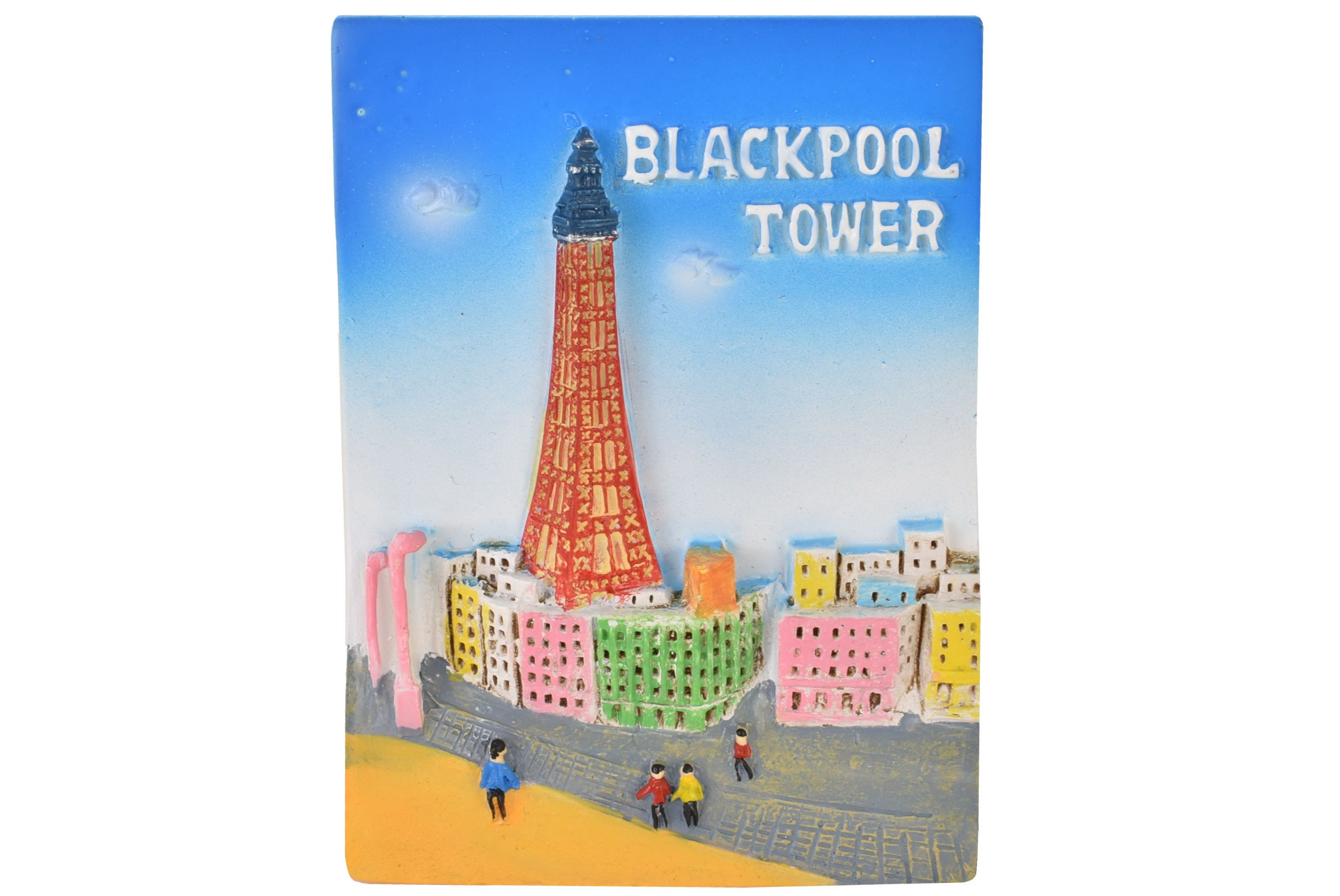 Blackpool Resin Magnet Tower Beach