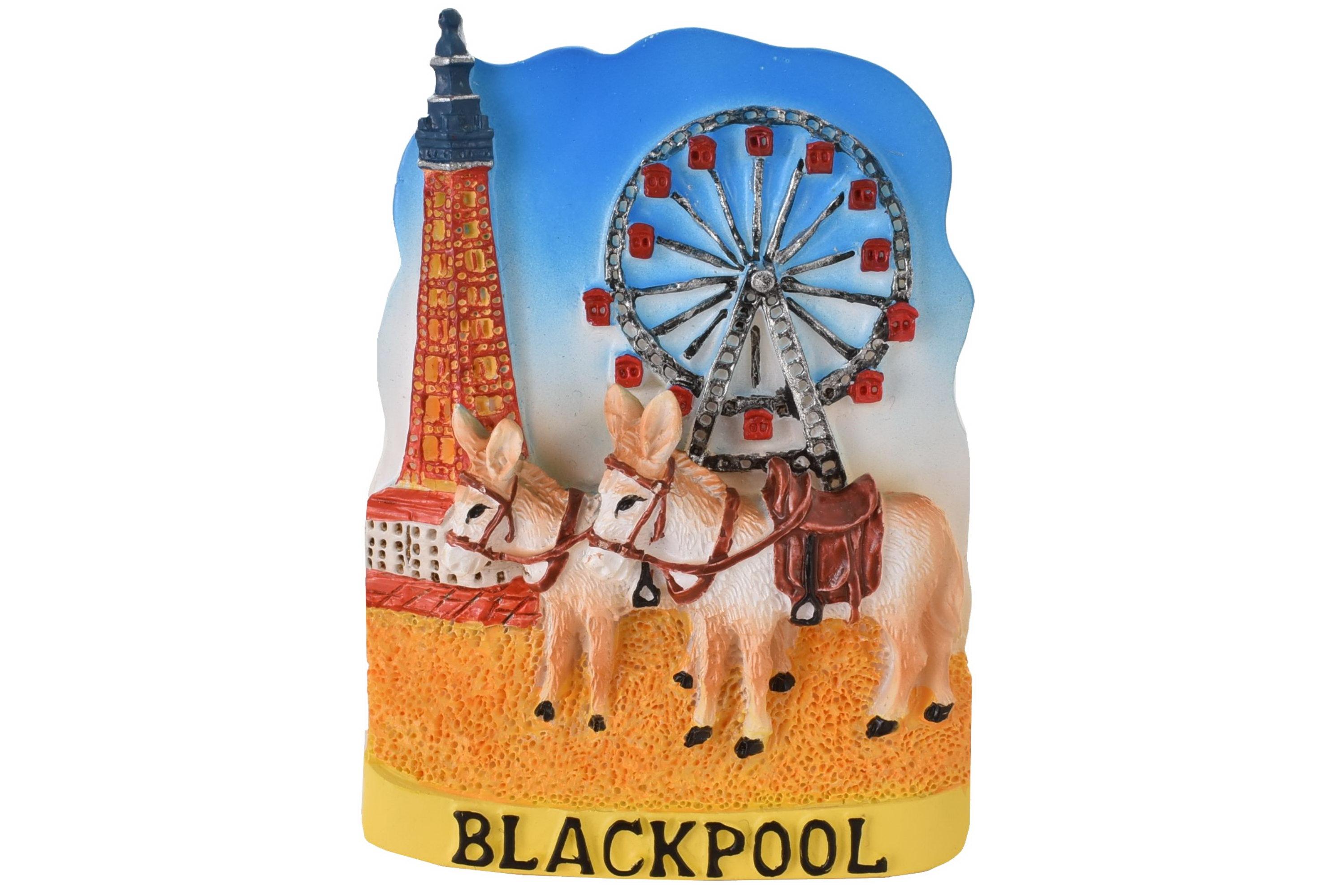 Blackpool Resin Magnet Beach Donkey