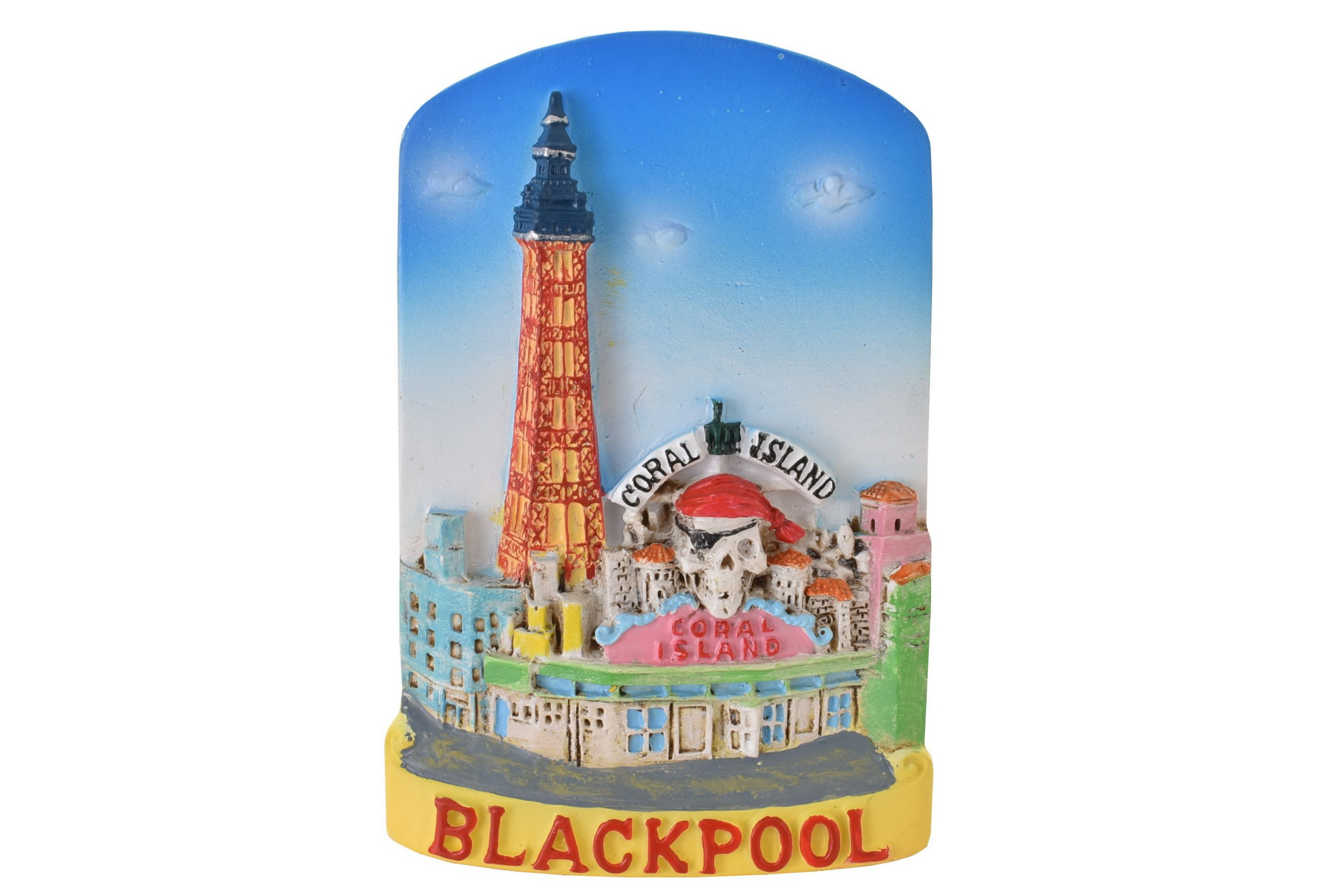 Blackpool Resin Magnet Tower Pirates