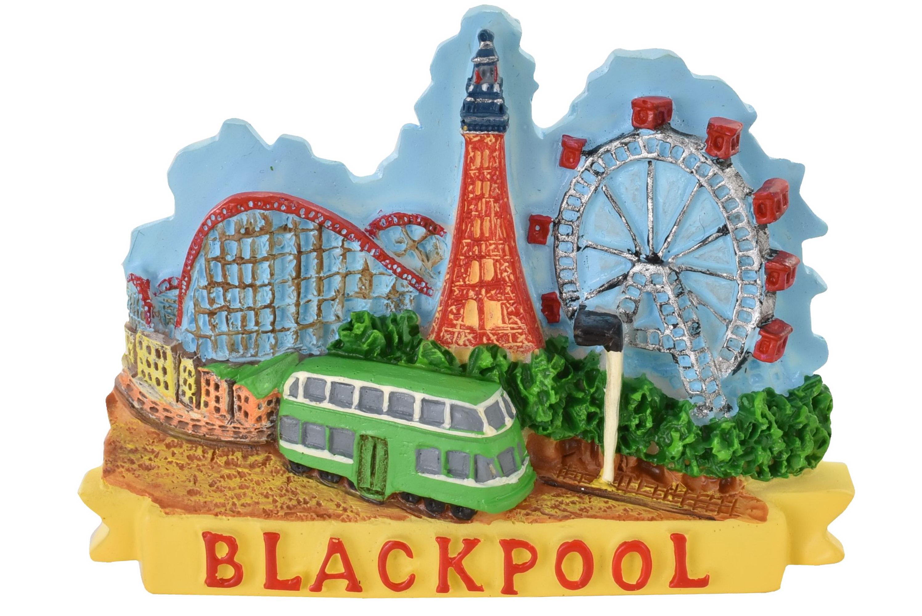 Blackpool Resin Magnet Tower/Tram/Wheel/Coaster