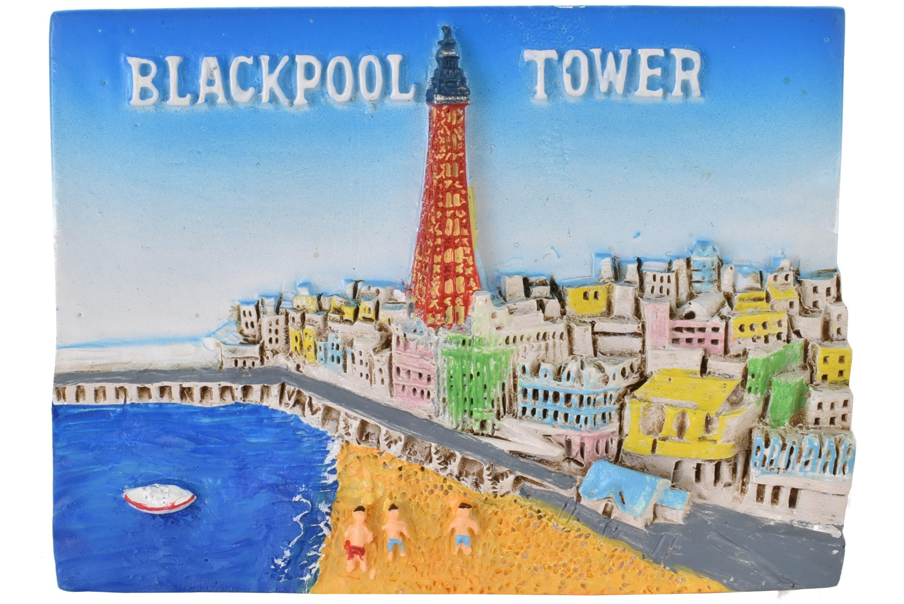 Blackpool Resin Magnet Beach