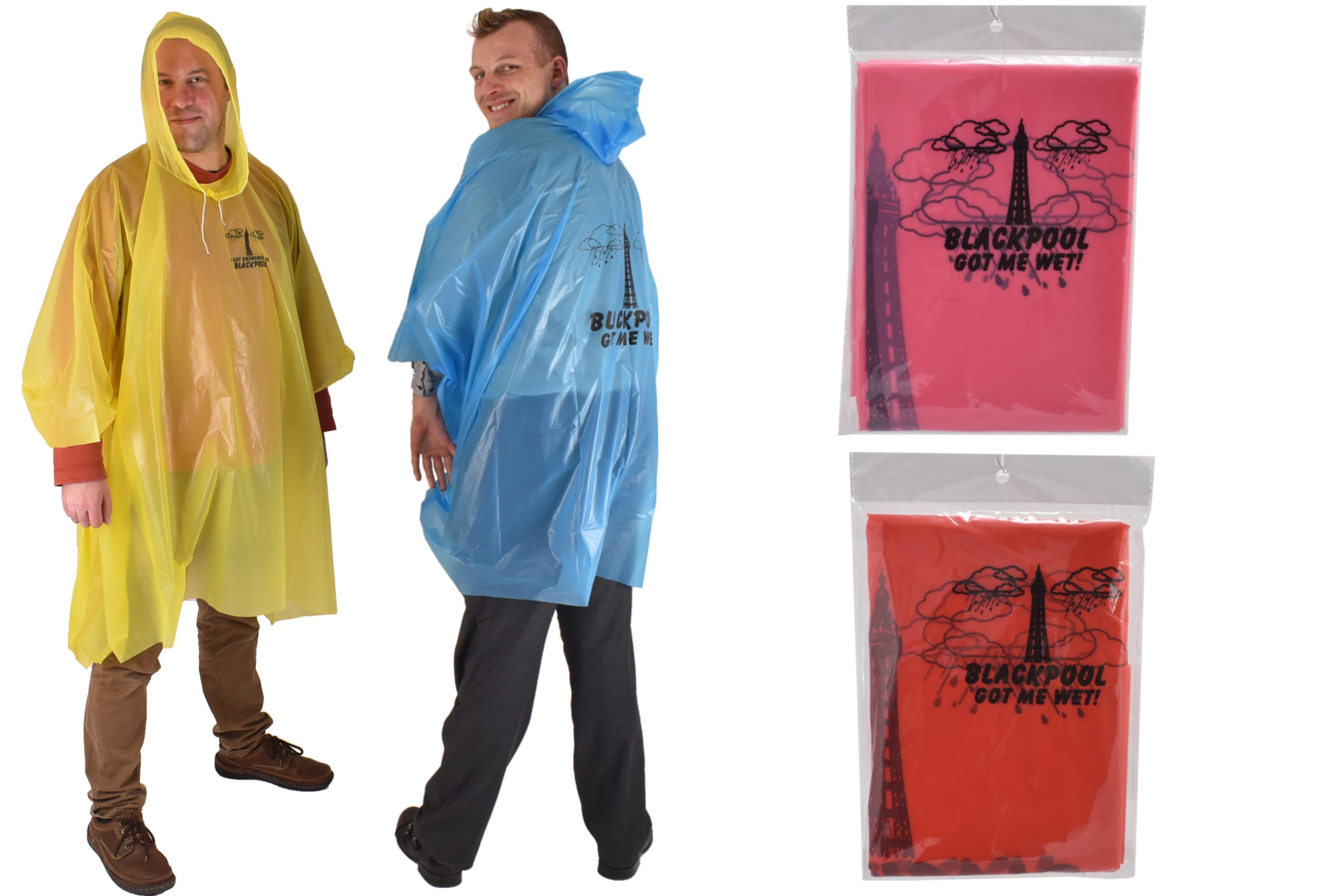Blackpool Adult Poncho W/Print 4 Asst In Pvc Bag/Insert