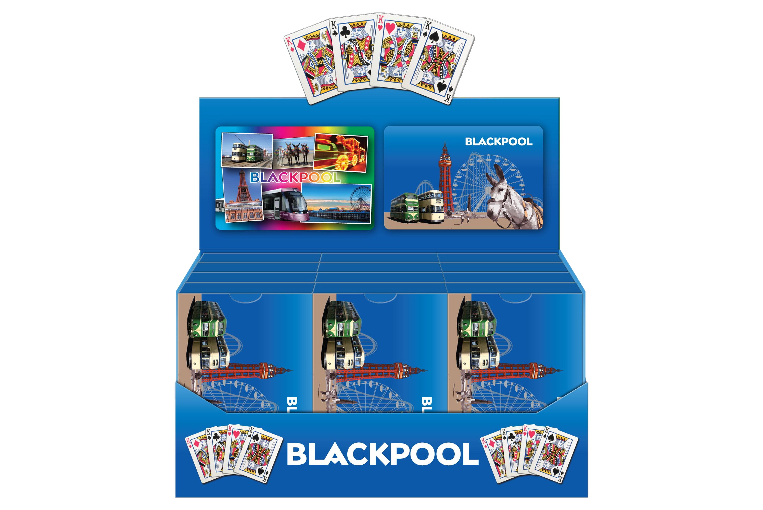 Playing Cards Blackpool Scenes Plastic Coated