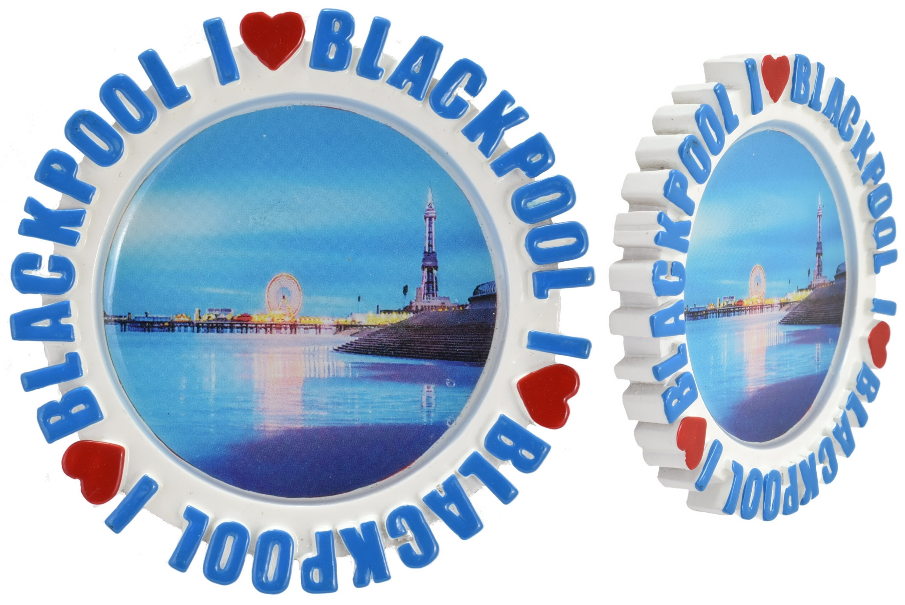 Round Resin Magnet Epoxy Pier Picture I L Blackpool
