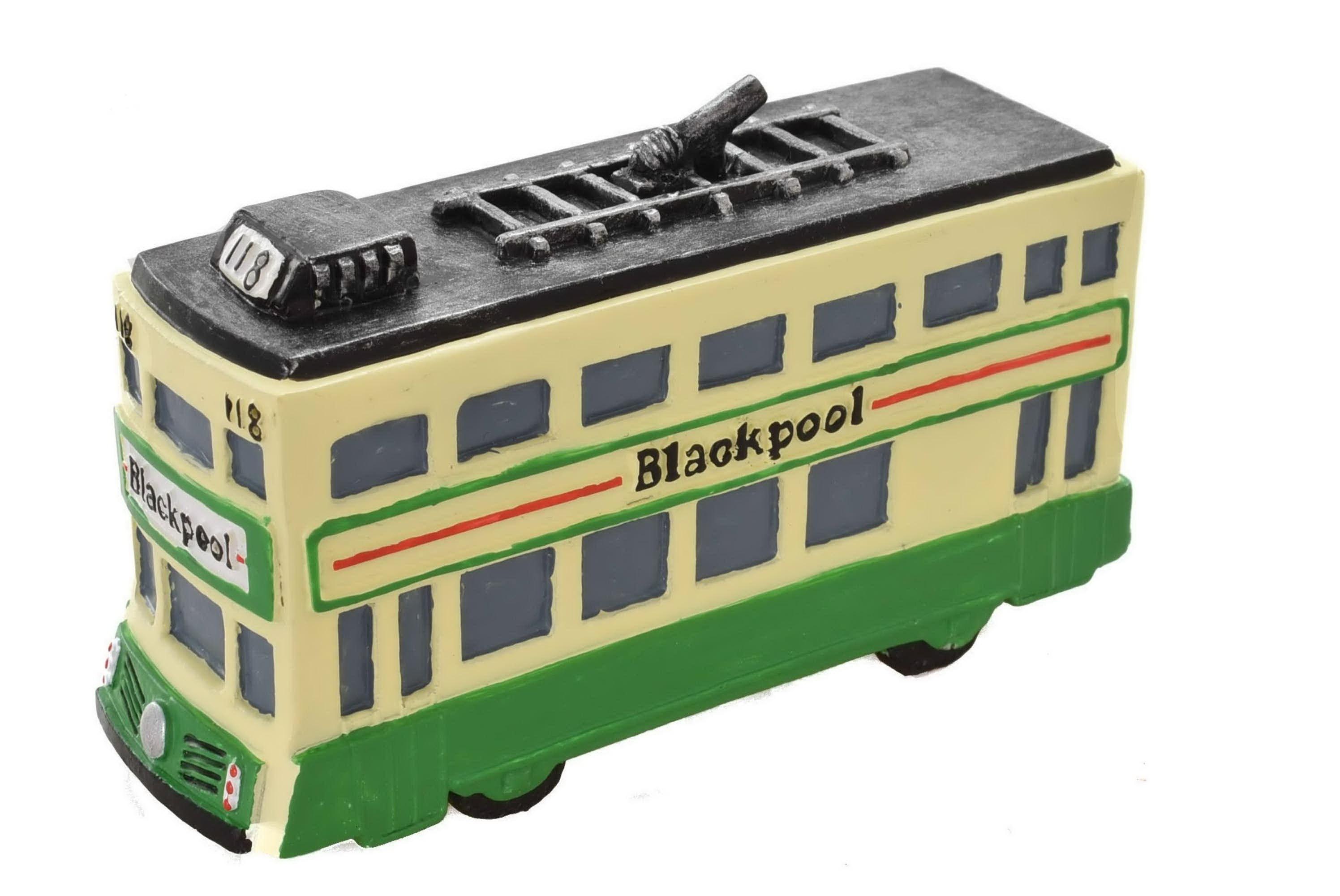 Blackpool Resin Double Decker Tram 10cm