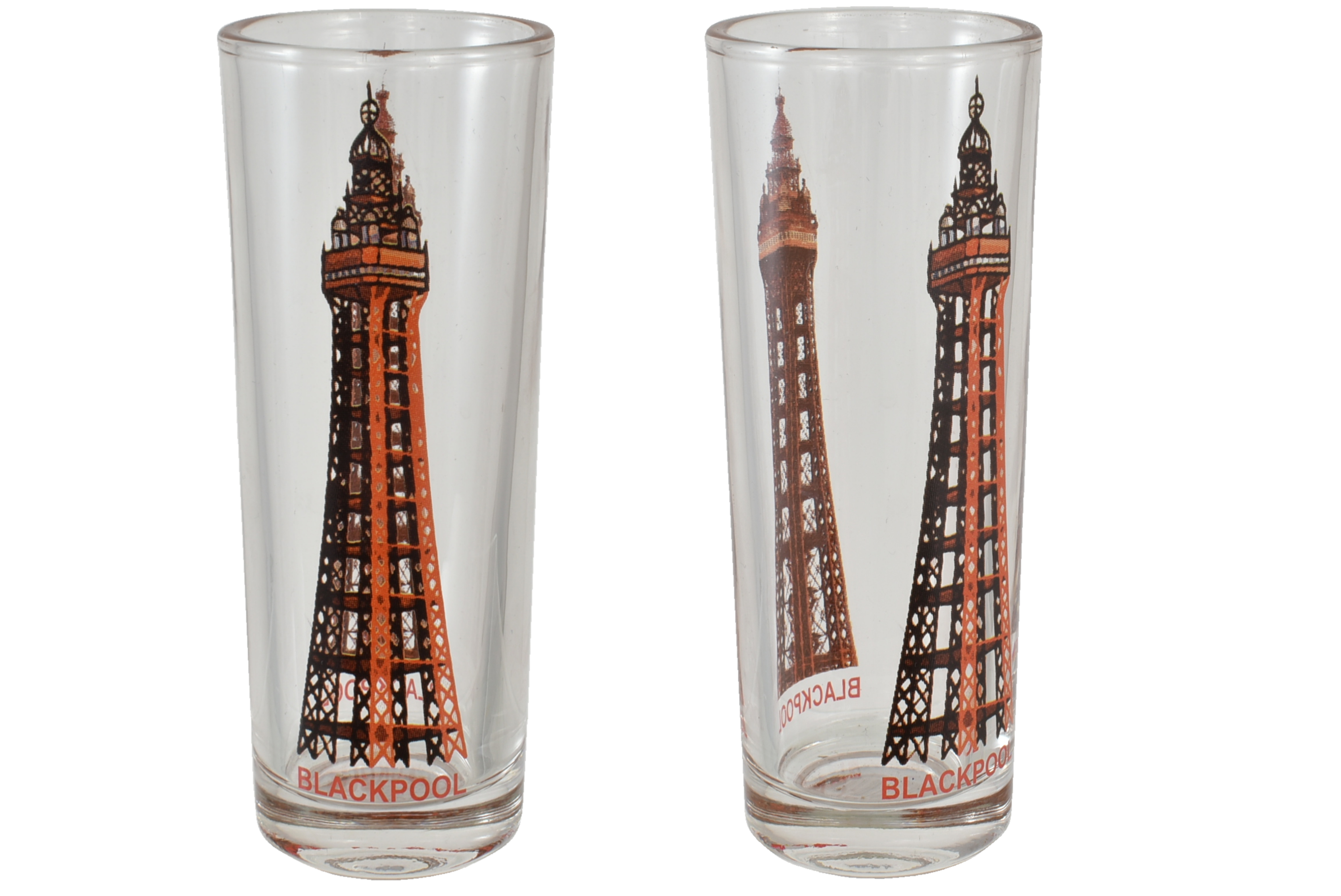 10.5cm Blackpool Tower Double Shot Glass