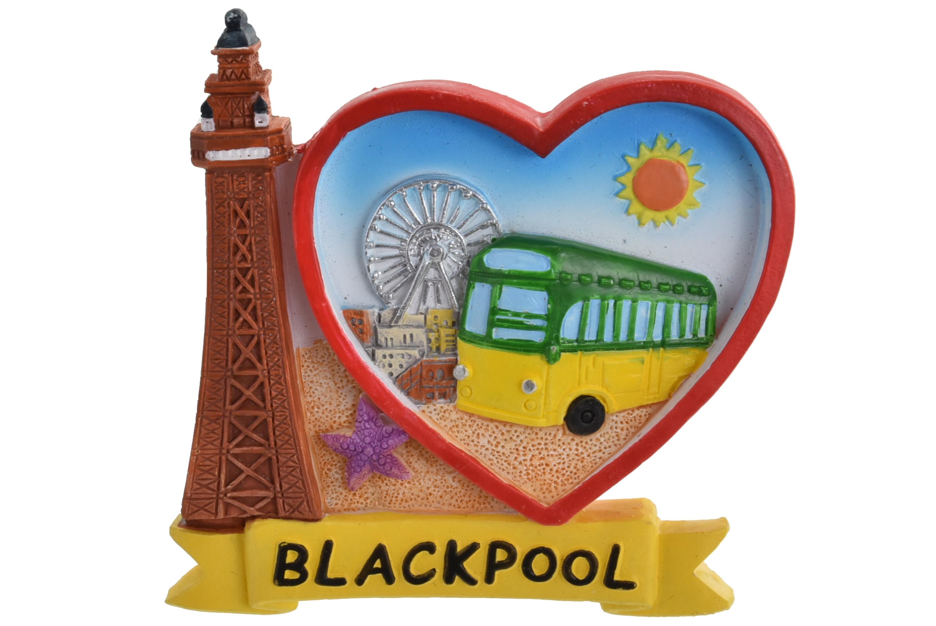 Blackpool I Heart Scene Magnet