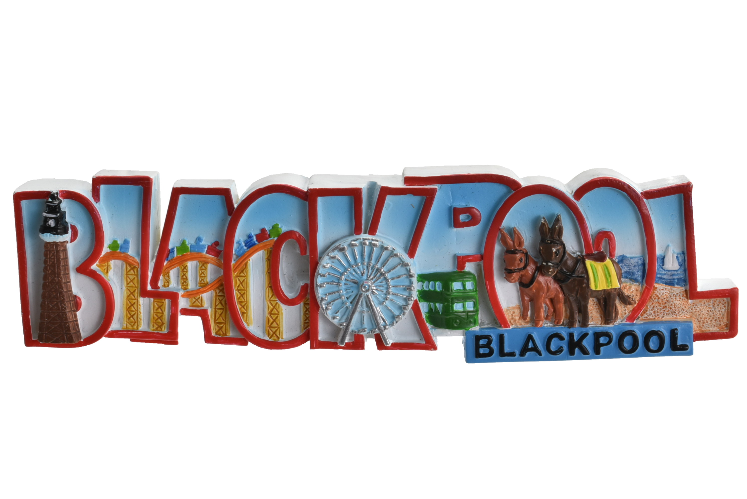 Blackpool Word Scene Magnet