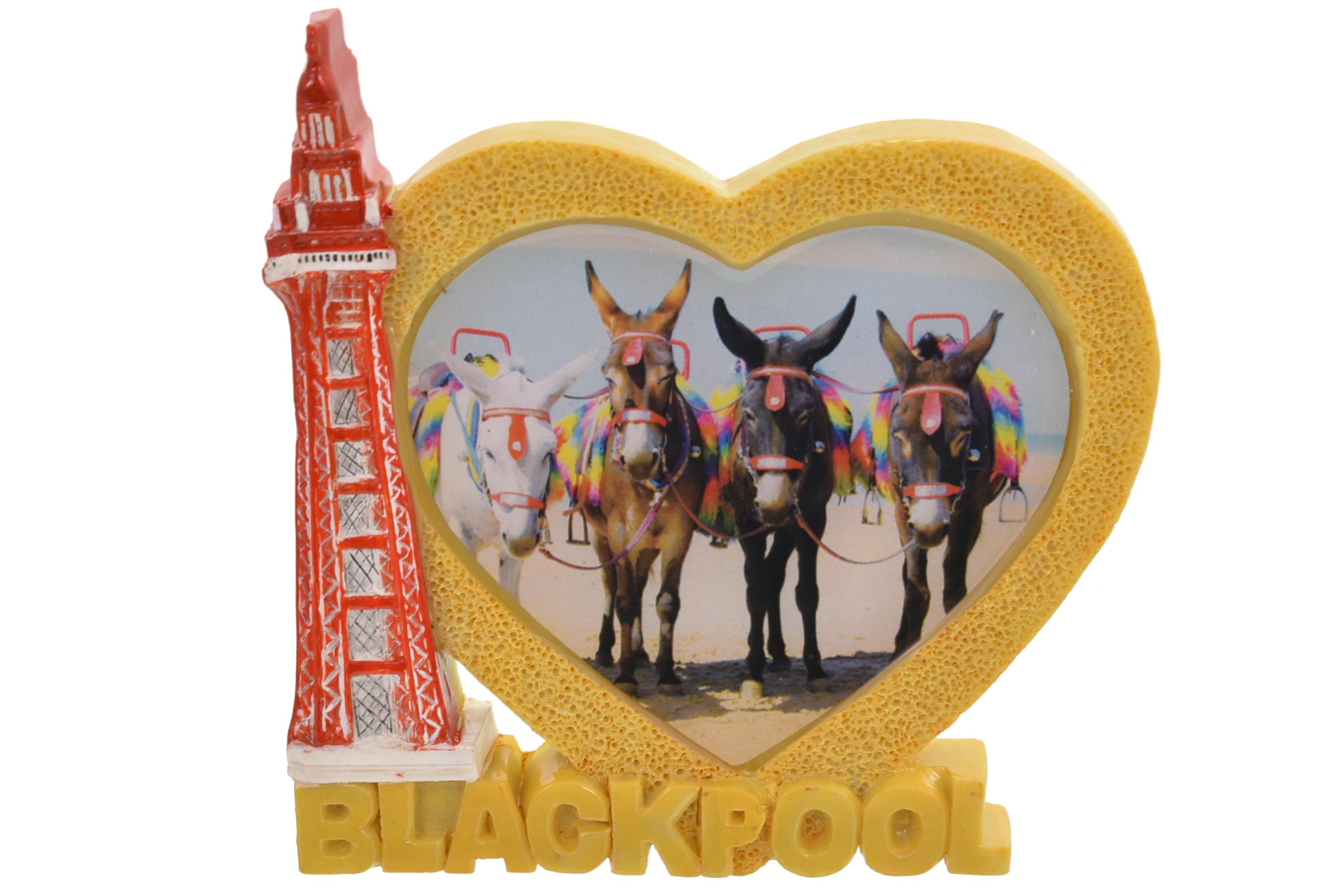 Blackpool Tower Heart Donkeys Magnet