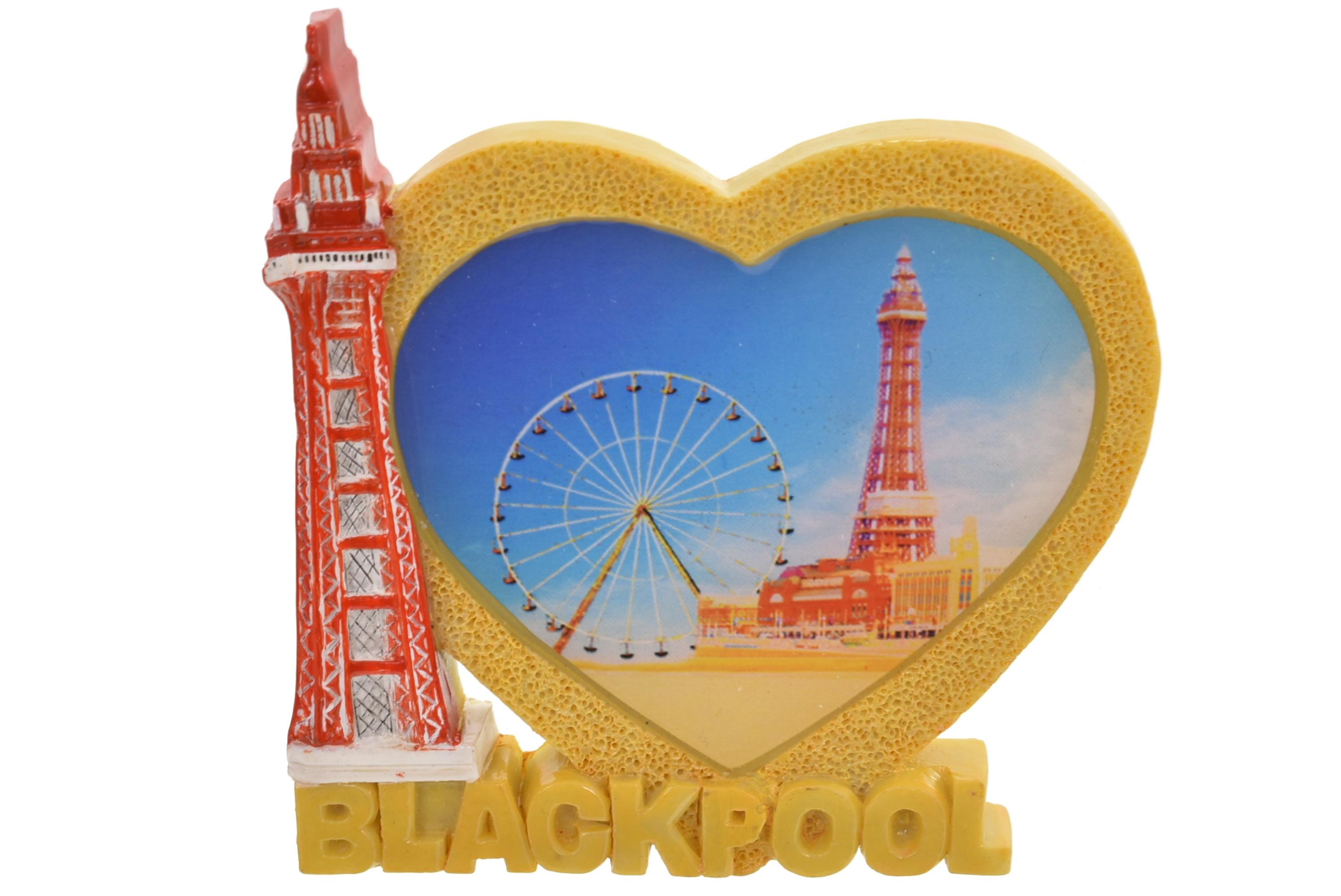 Blackpool Heart Tower Wheel Magnet