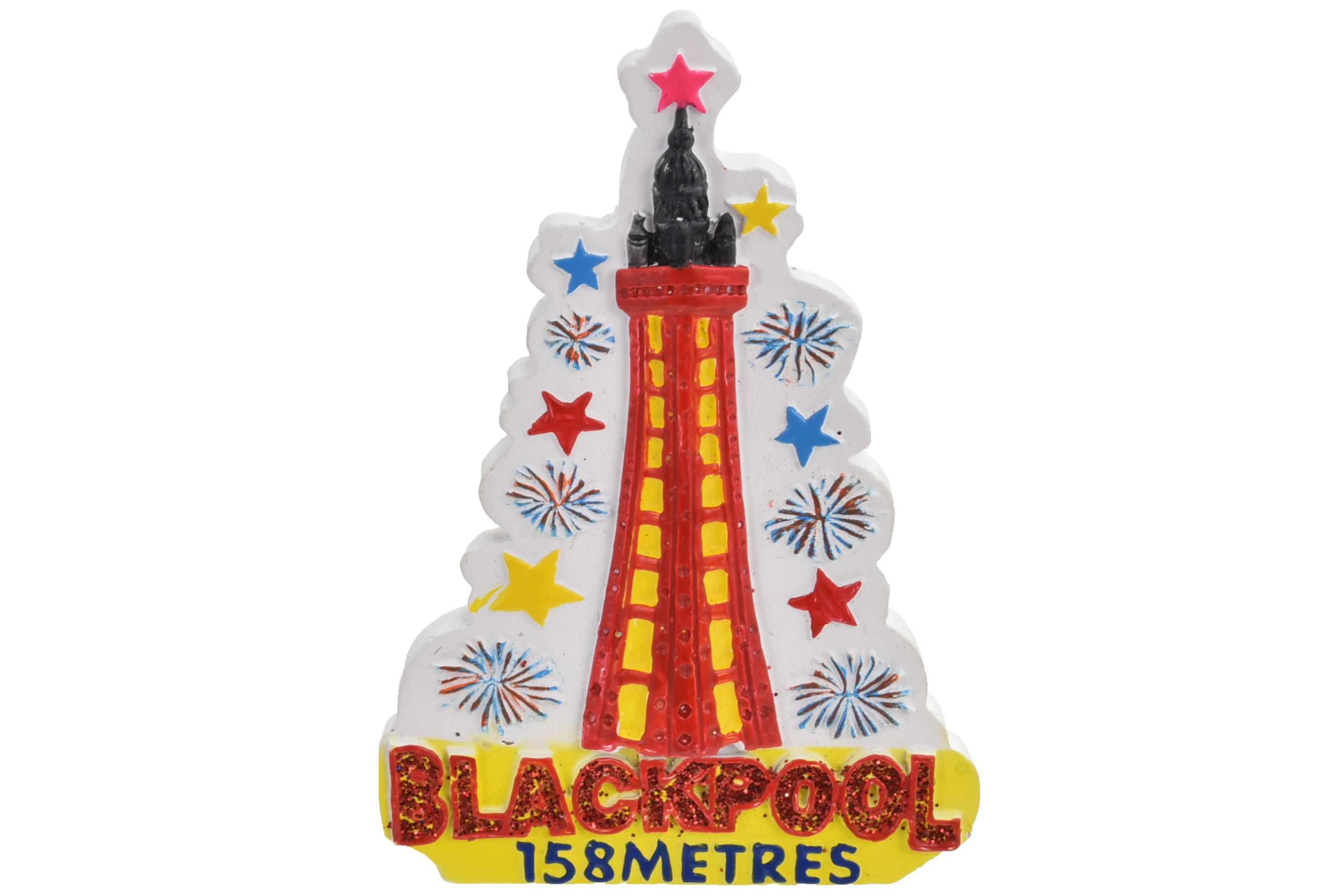 Blackpool Firework Resin Magnet