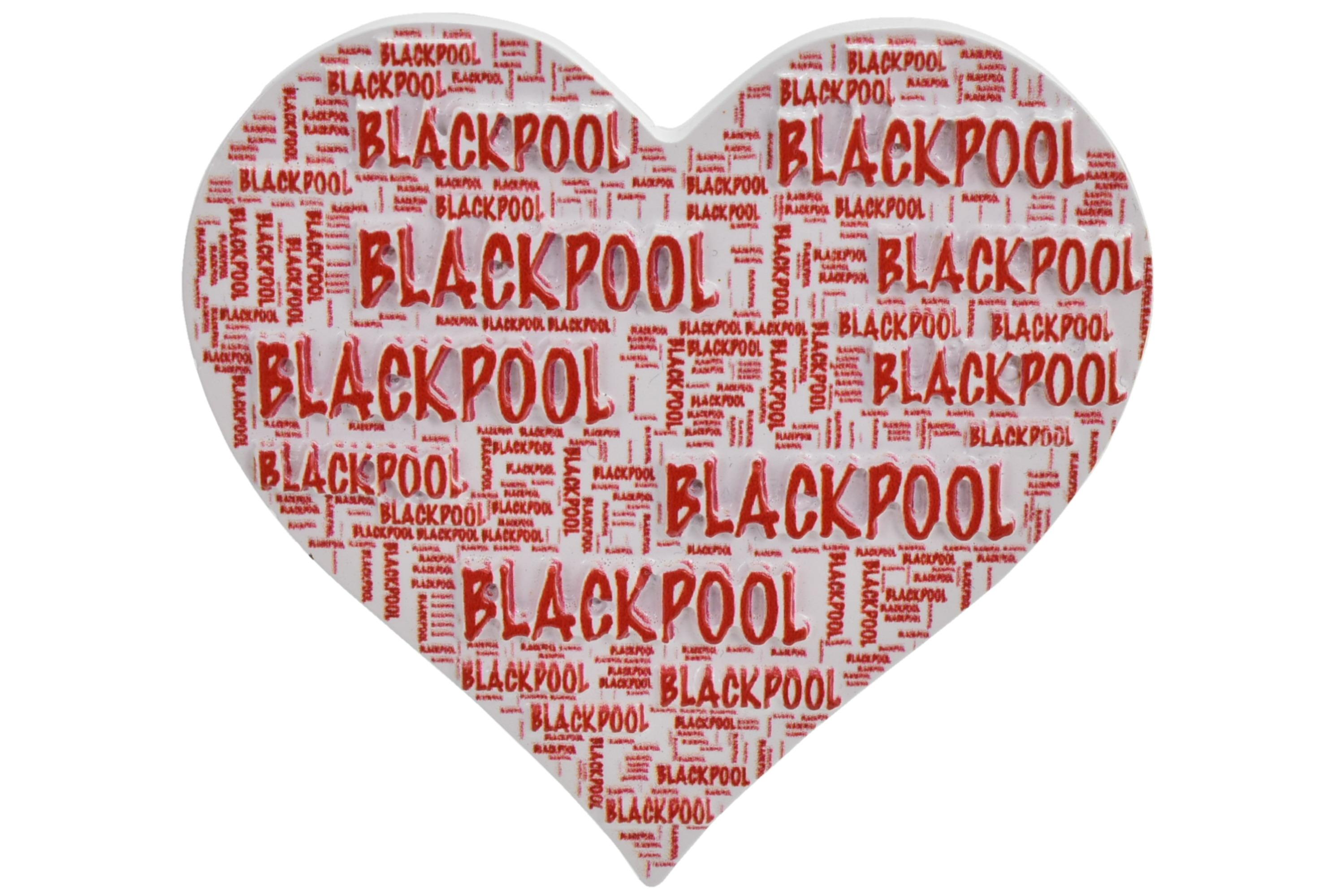 Blackpool Heart Multi Print Magnet