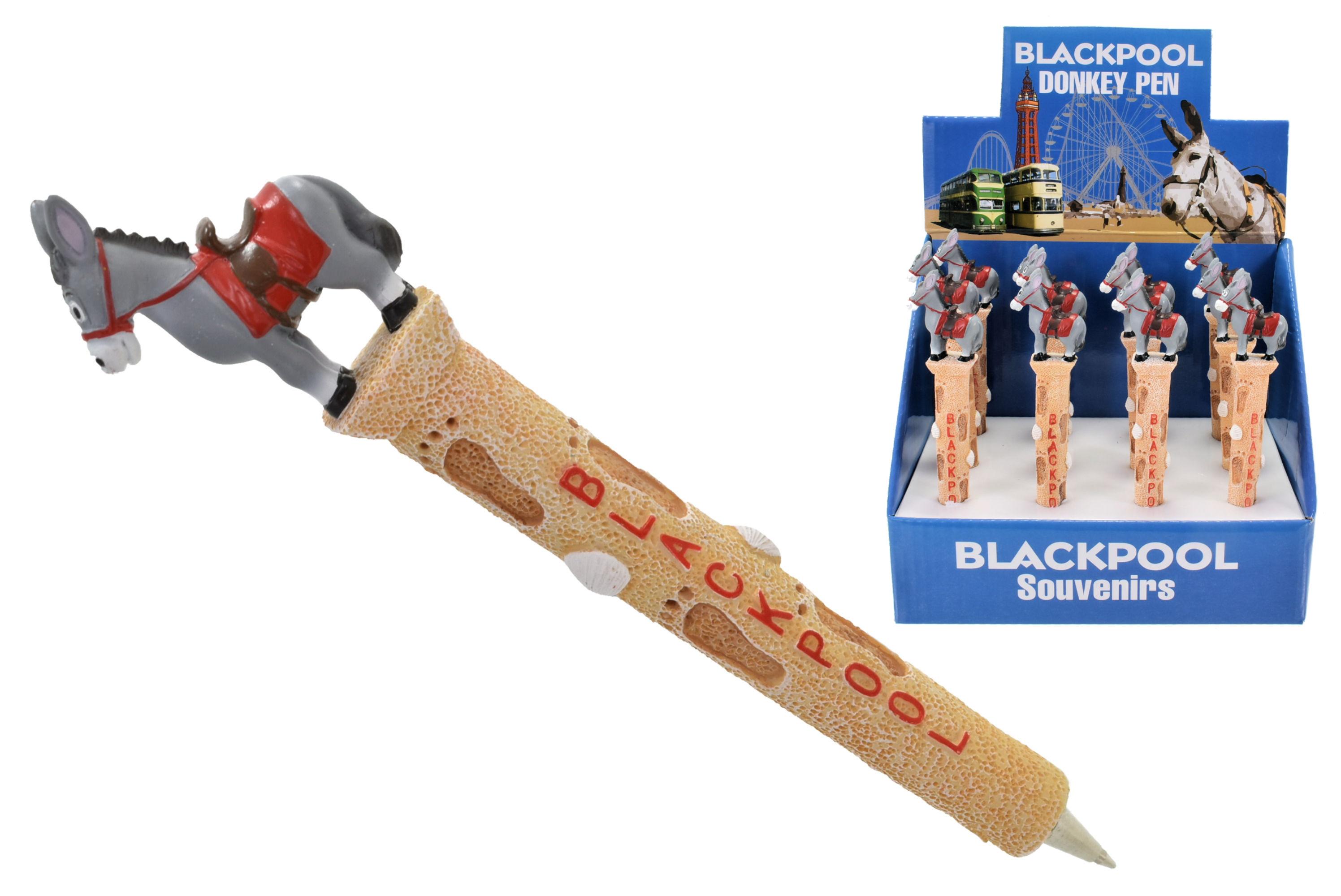 Blackpool Donkey Resin Pen In Display Box