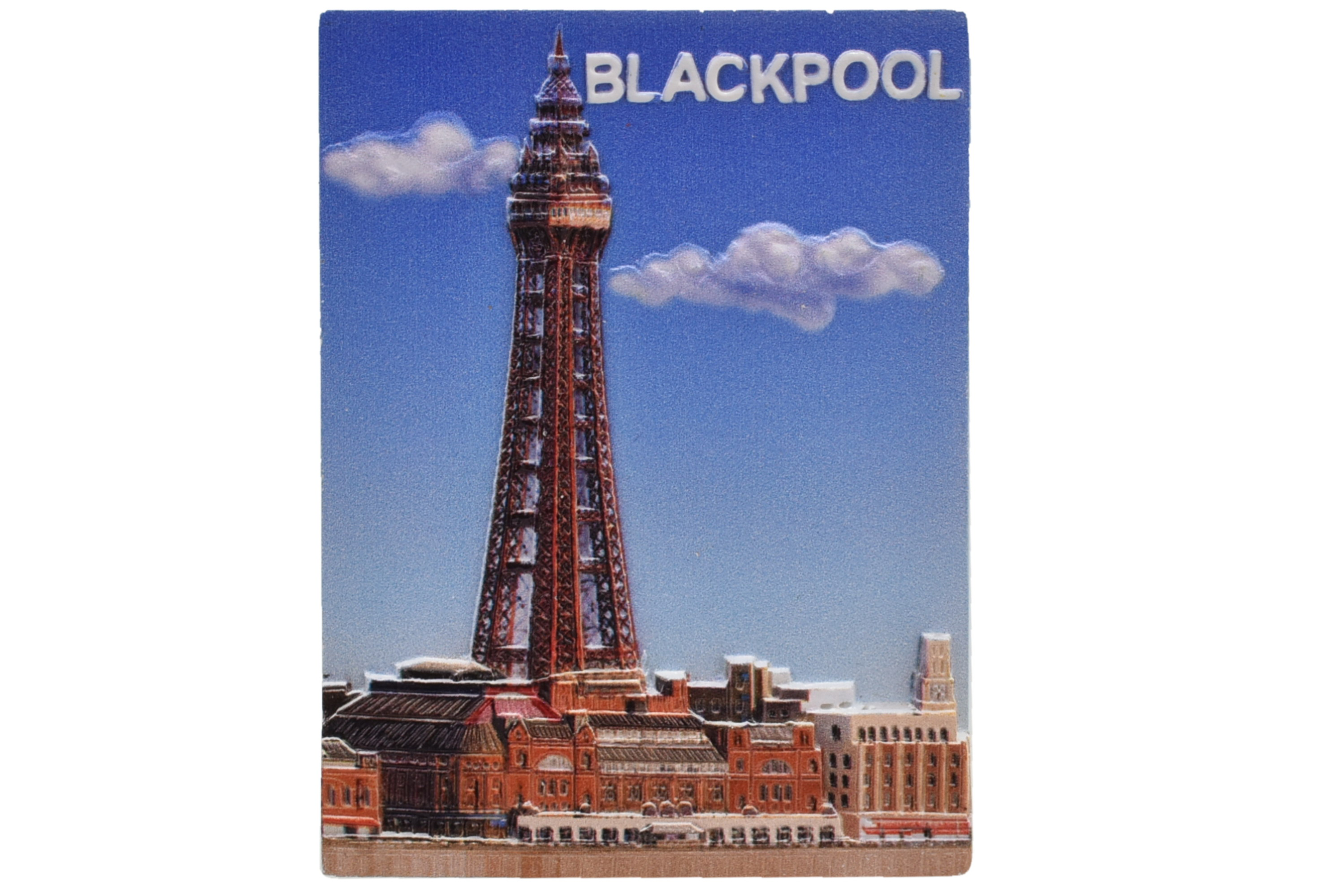 Blackpool Tower Scene 3d Printed Magnet