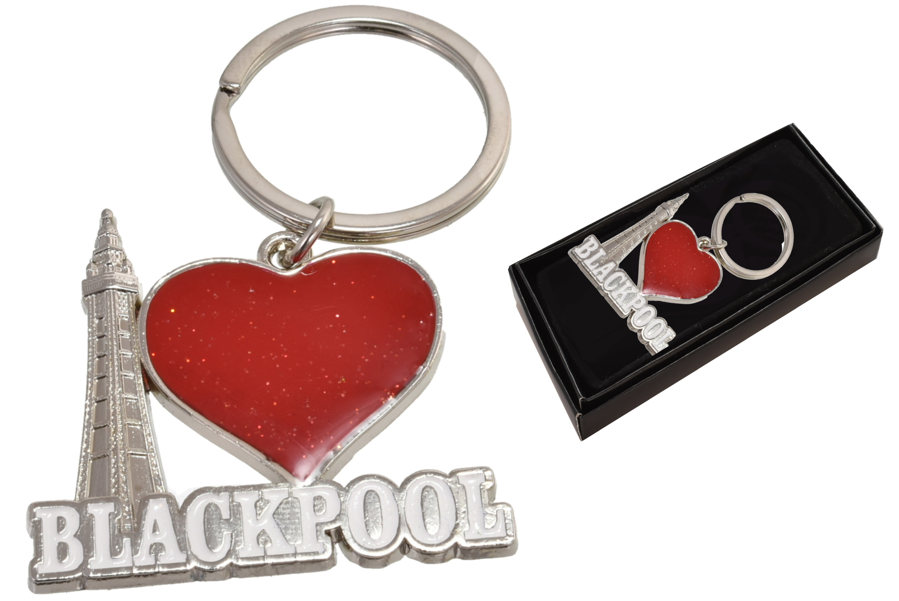 3d Blackpool Tower Heart Keyring
