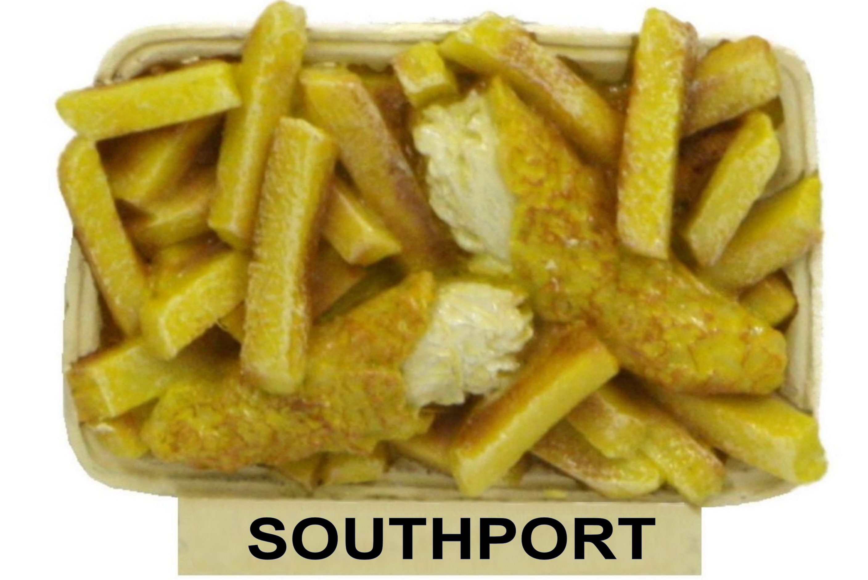 Southport Fish & Chips Resin Magnet