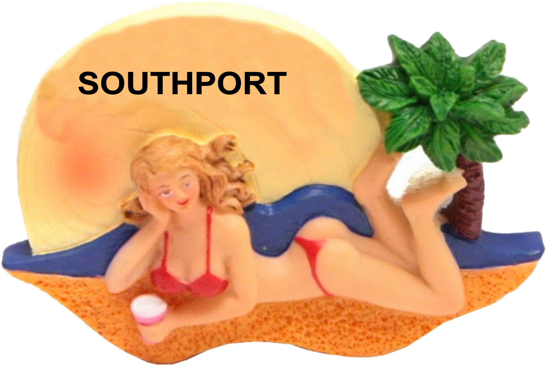Southport Sunbathing Babe Resin Magnet