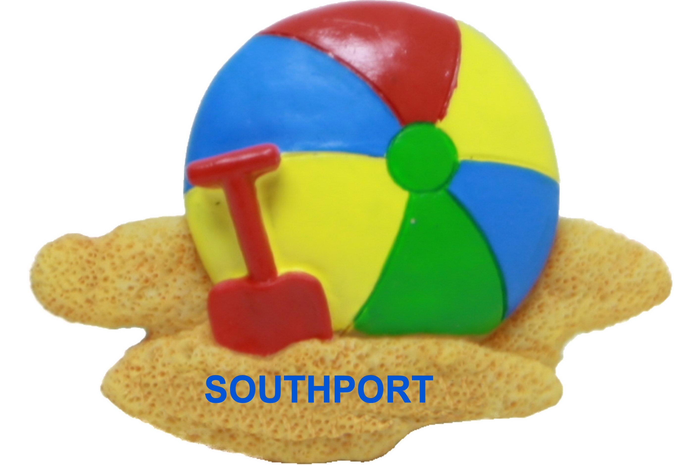 Southport Beach Ball Resin Magnet