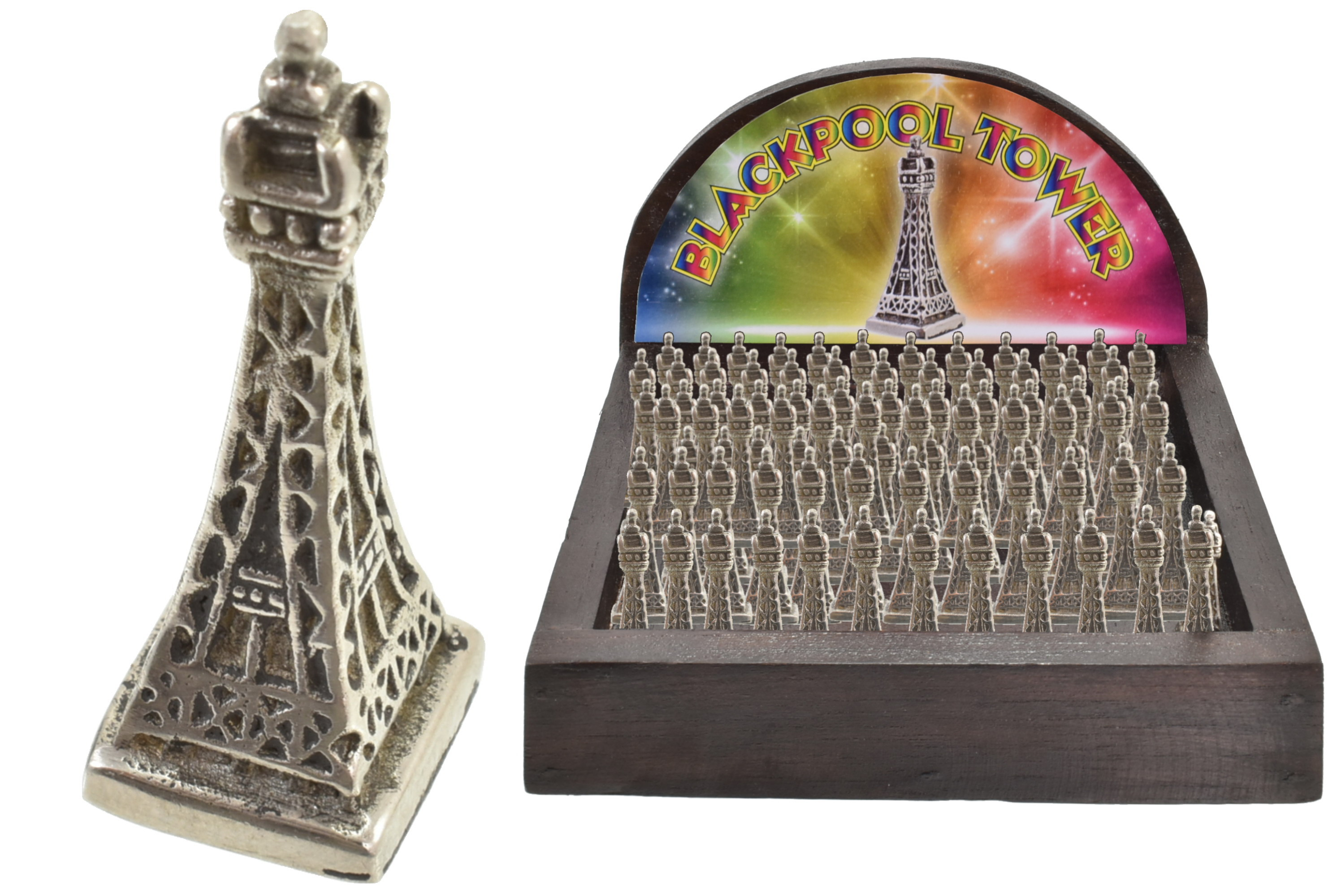 Lucky Blackpool Tower In Wooden Display Box