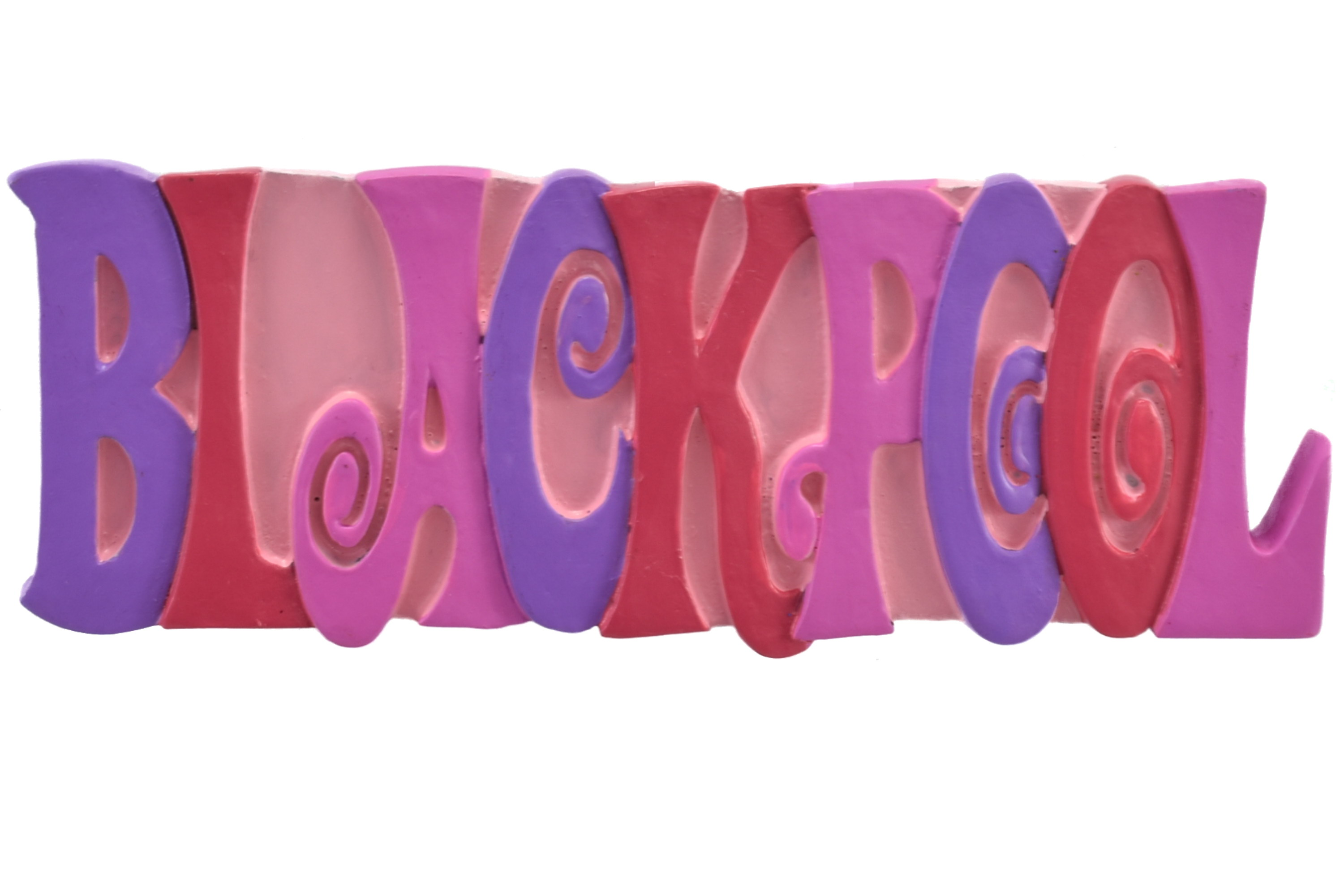 Blackpool Pink Letters Resin Magnet