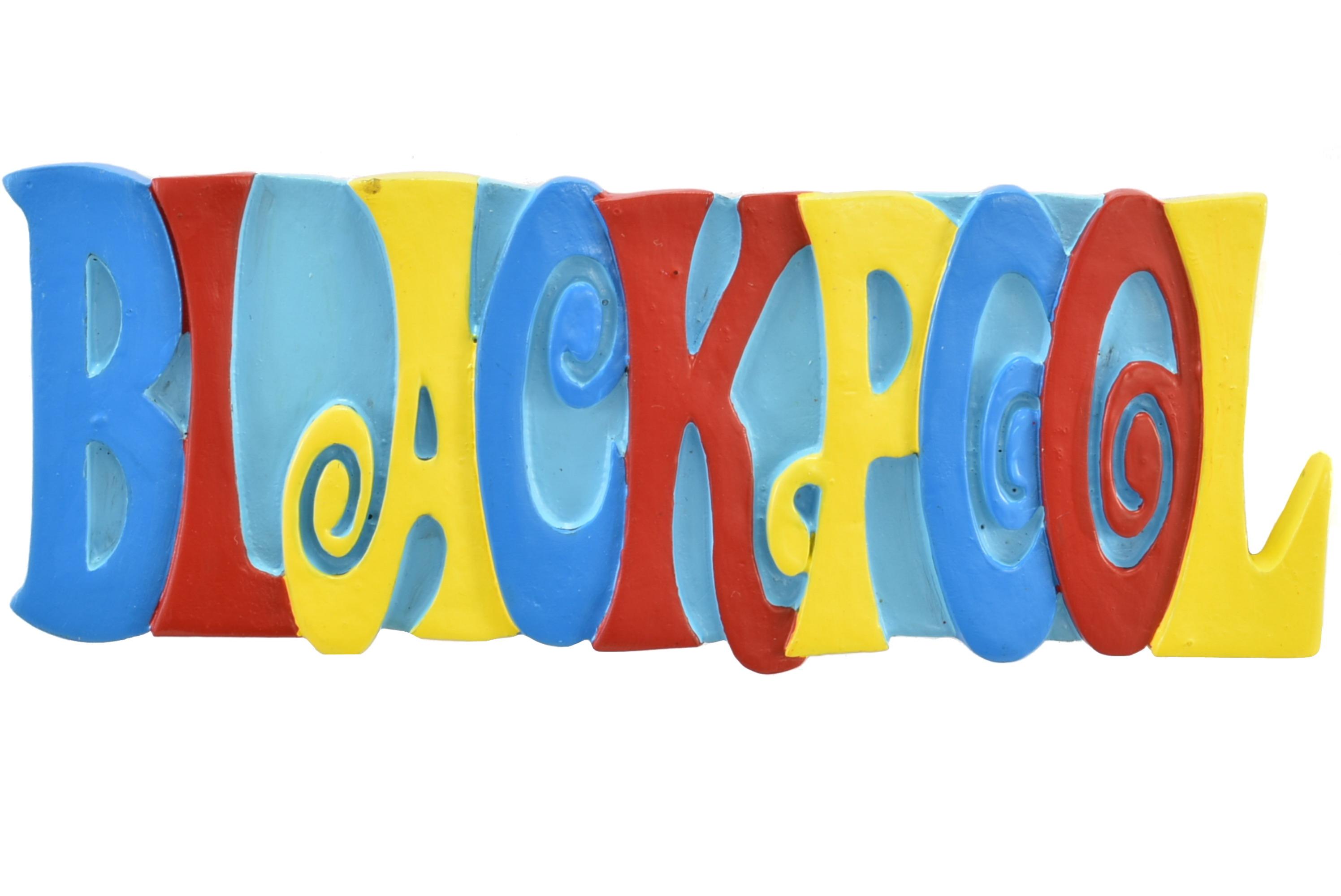 Blackpool Multicolour Resin Magnet