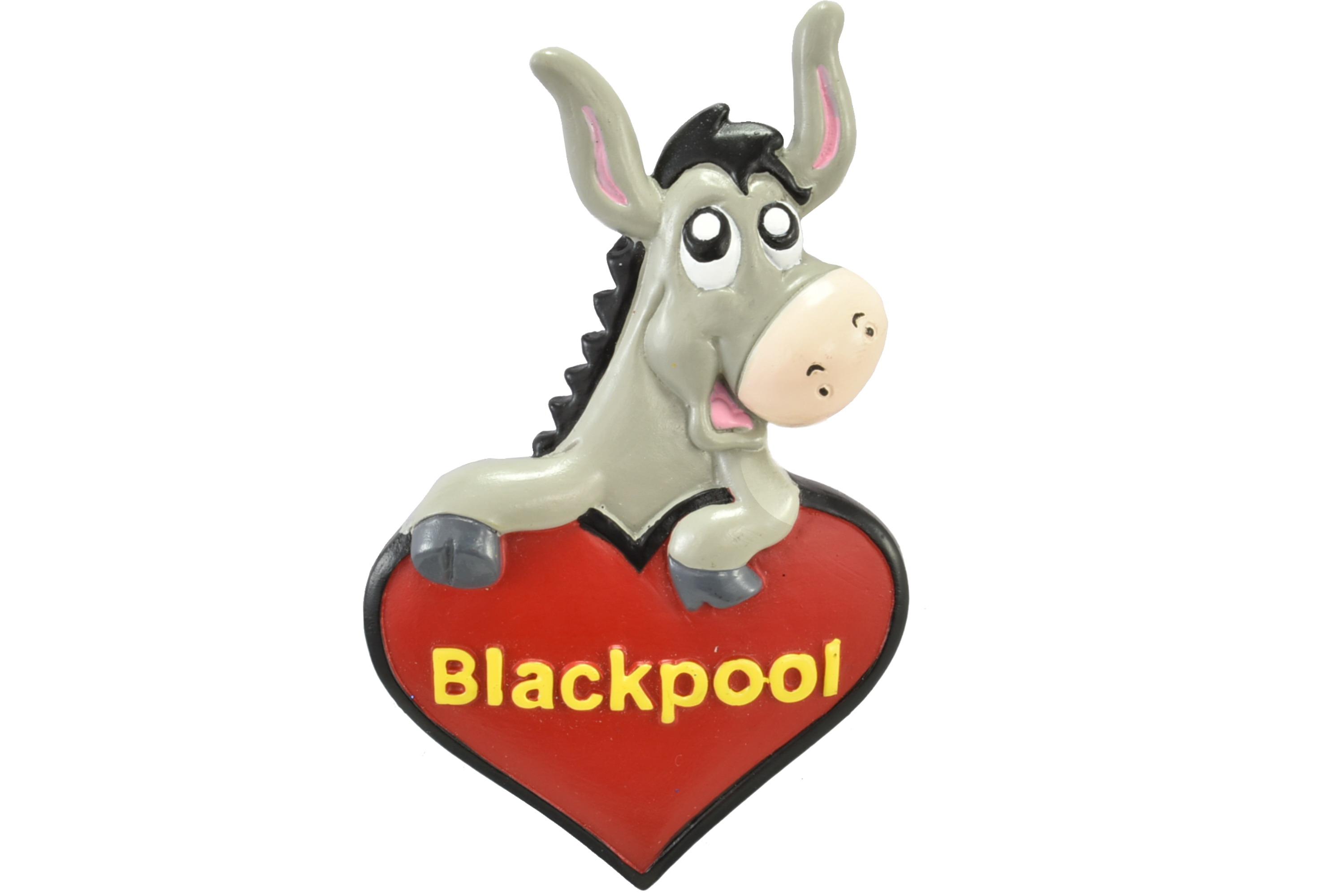 Blackpool Donkey Heart Resin Magnet