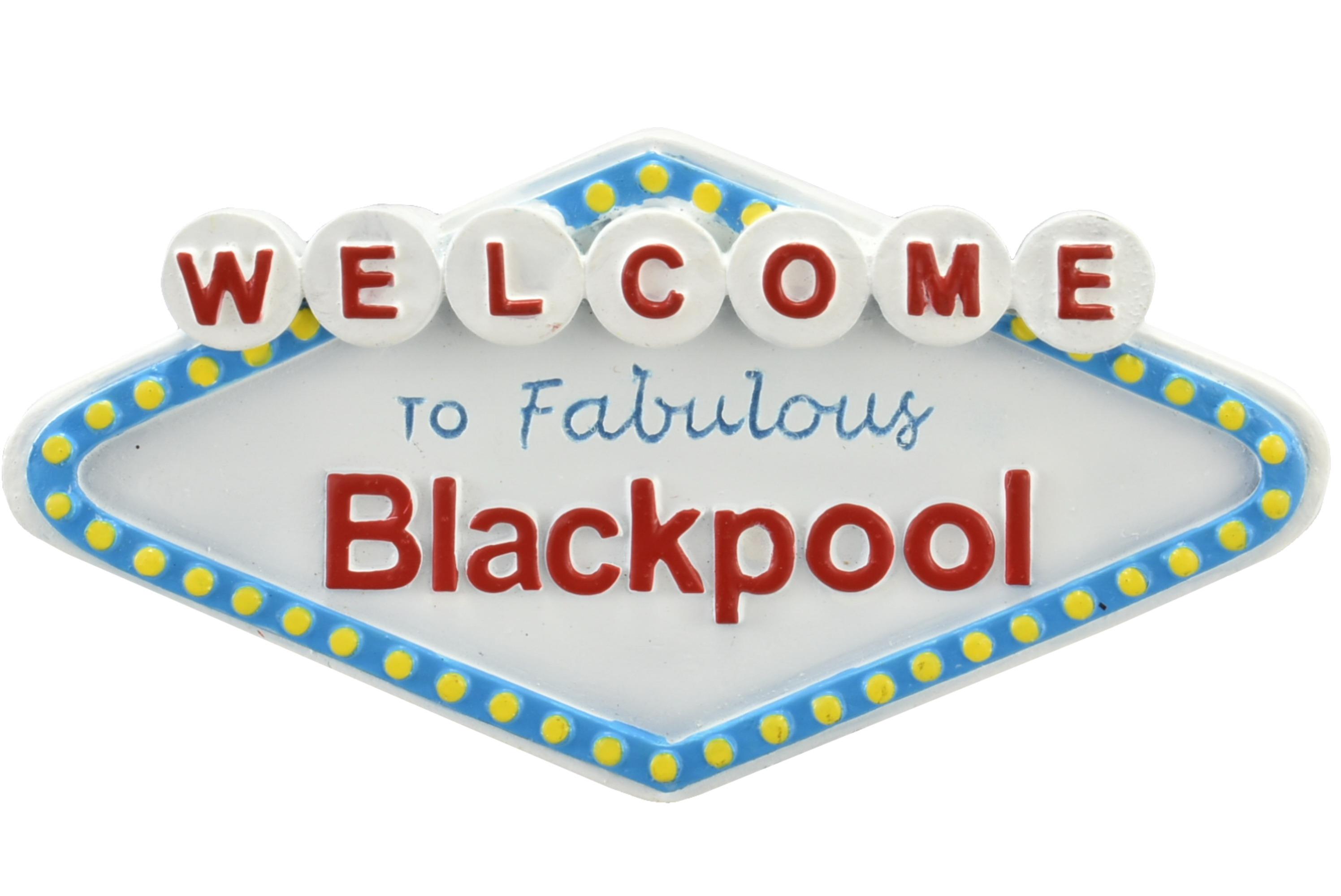 Blackpool Fabulous Resin Magnet