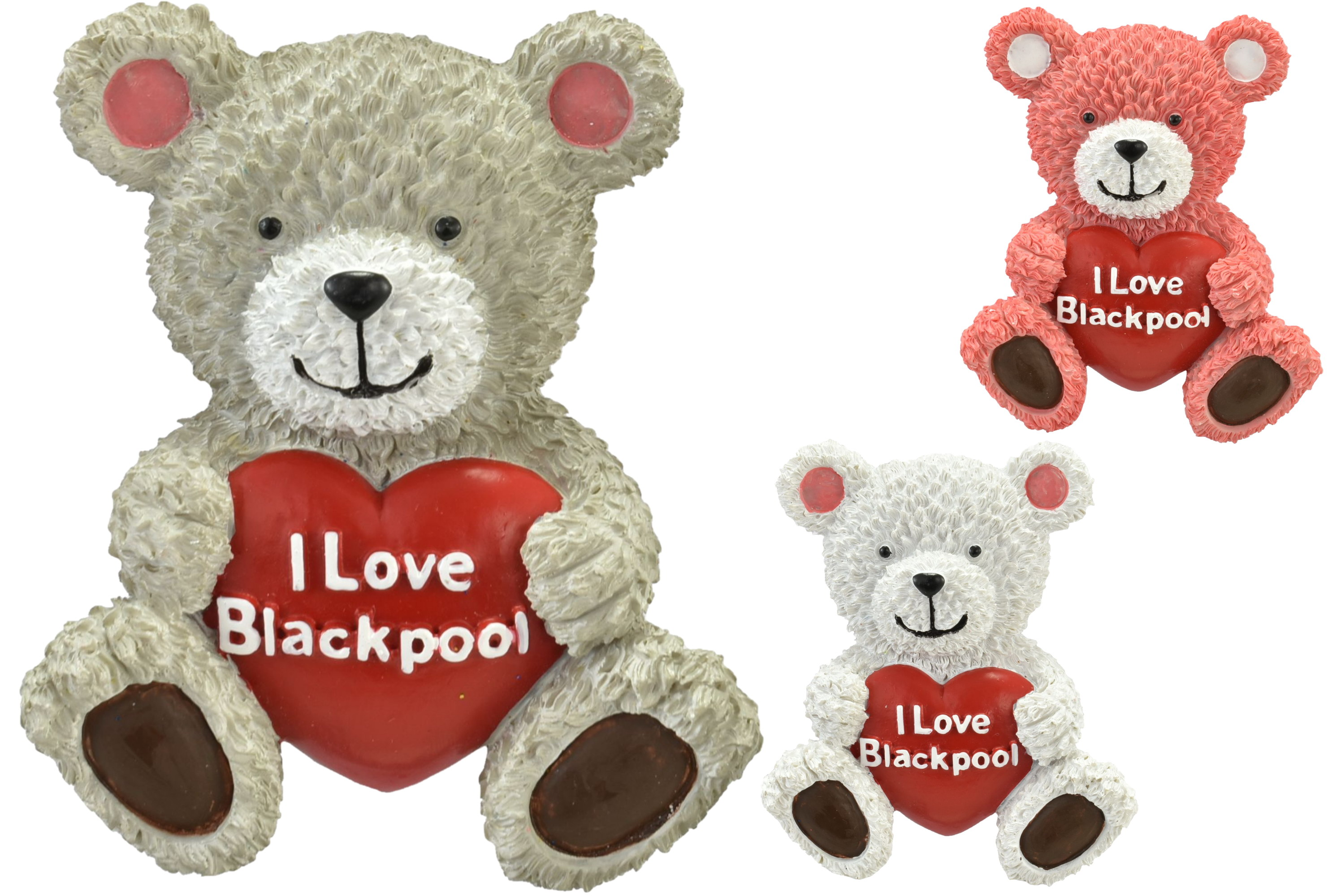 Blackpool Bear Resin Magnet 3 Assorted Colours