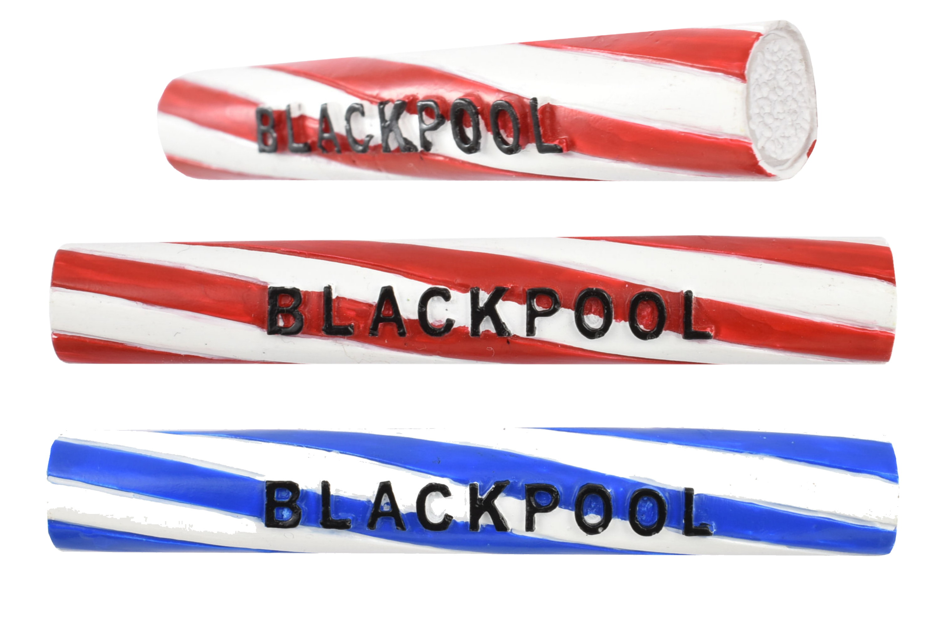 Blackpool Rock Stick Magnet 2 Assorted Colours