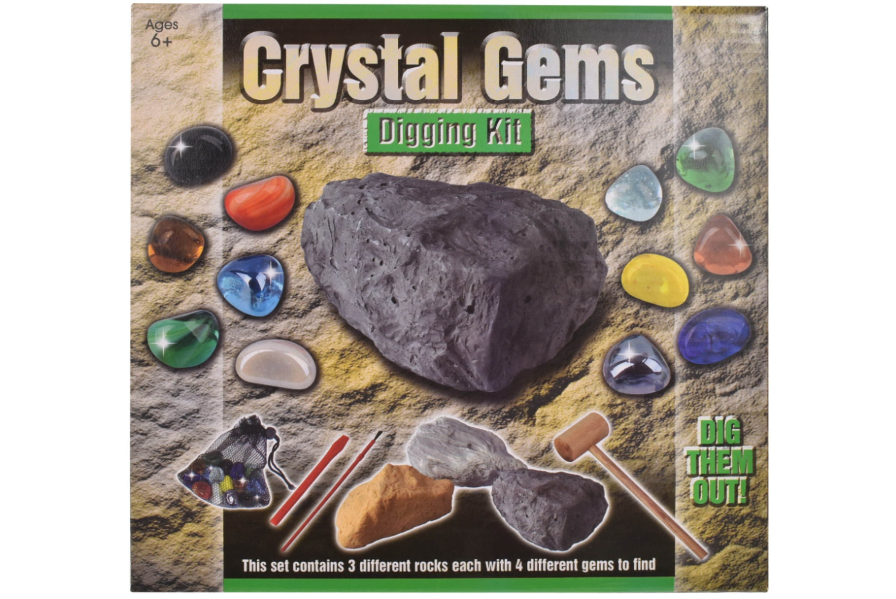 Dig Out Crystal Gems With Bag In Printed Box