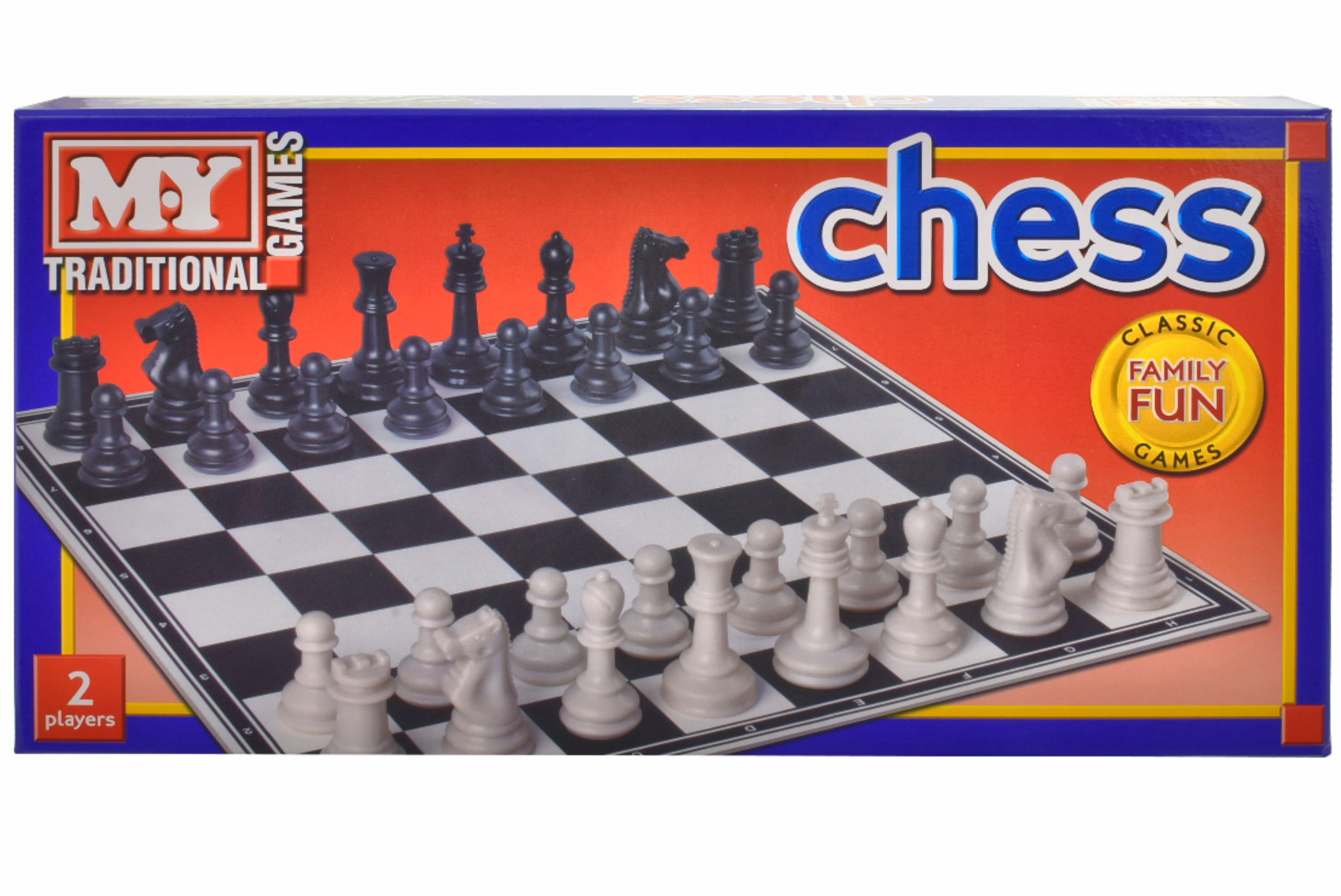 """Chess Game In Printed Box """"M.Y"""""""