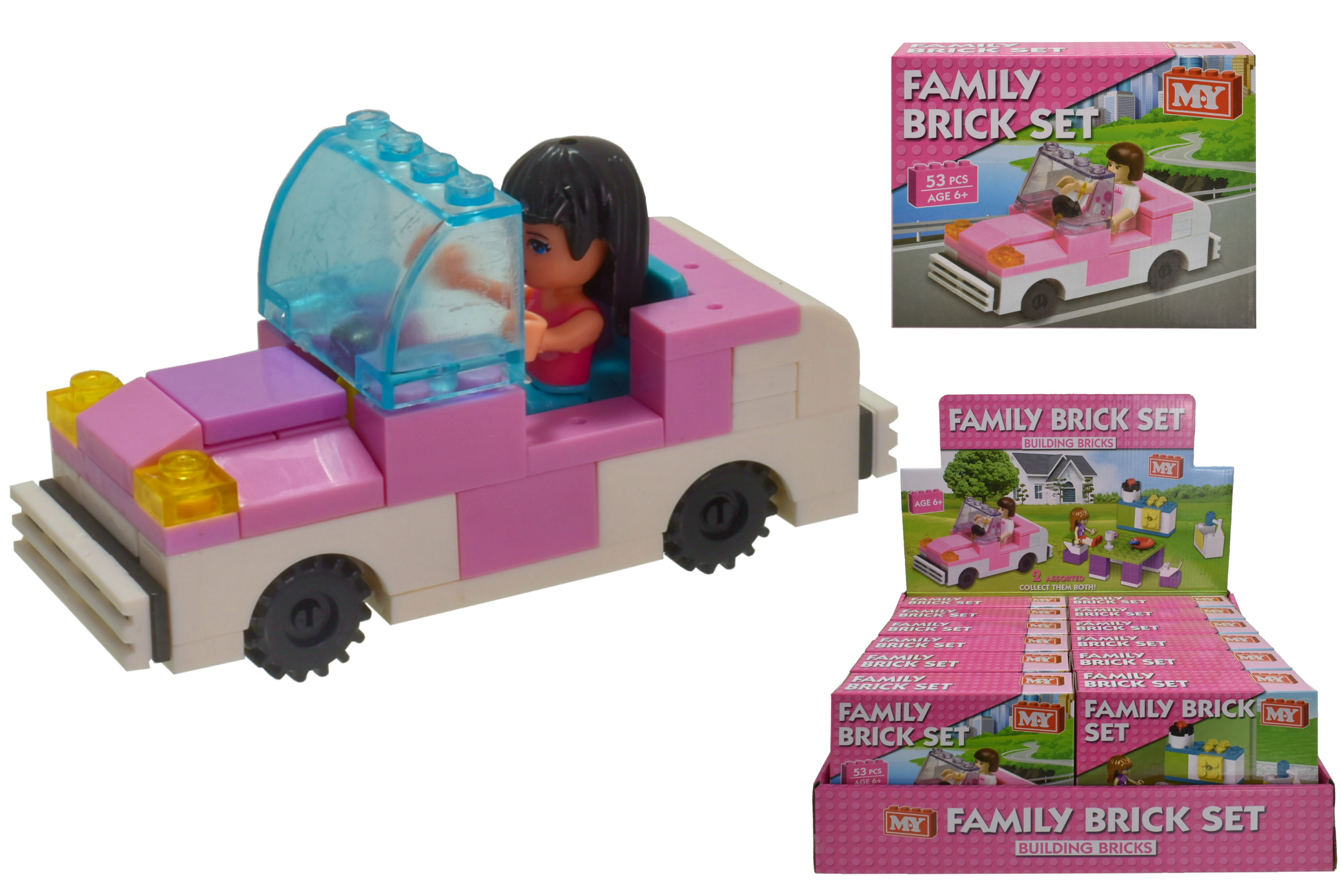 "Family Brick Set (2 Asst) In Colour Bx/Display Bx ""M.Y"""