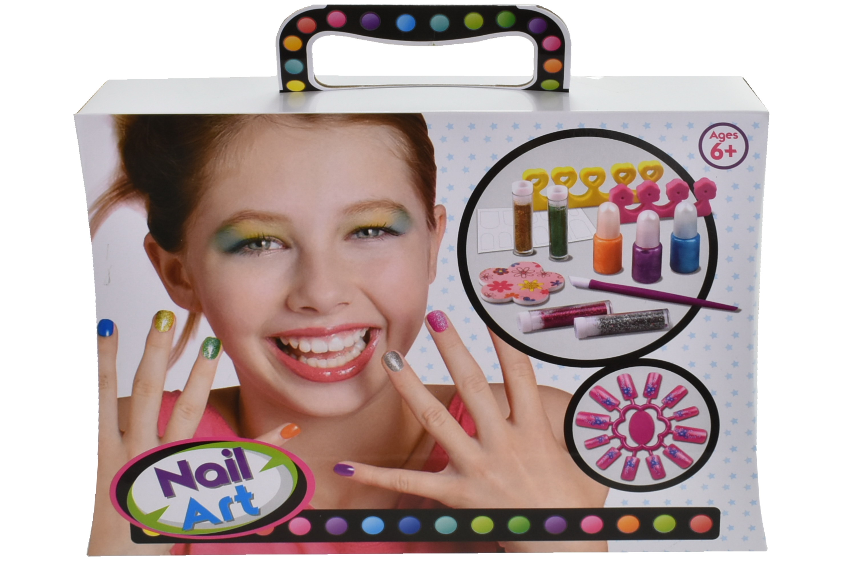 Nail Art Playset In Colour Carry Box