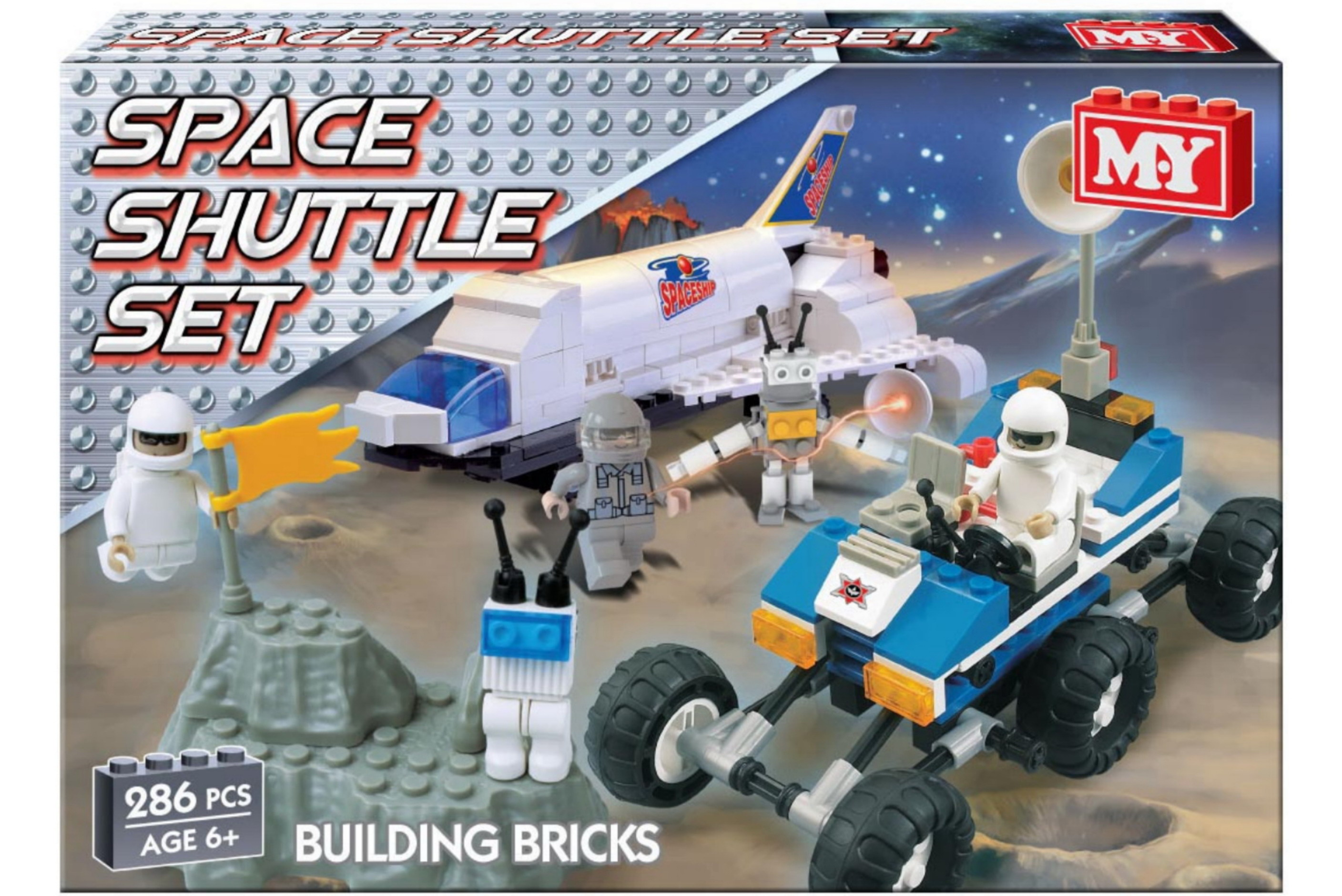 "286pc Space Brickset In Colour Box ""M.Y"""