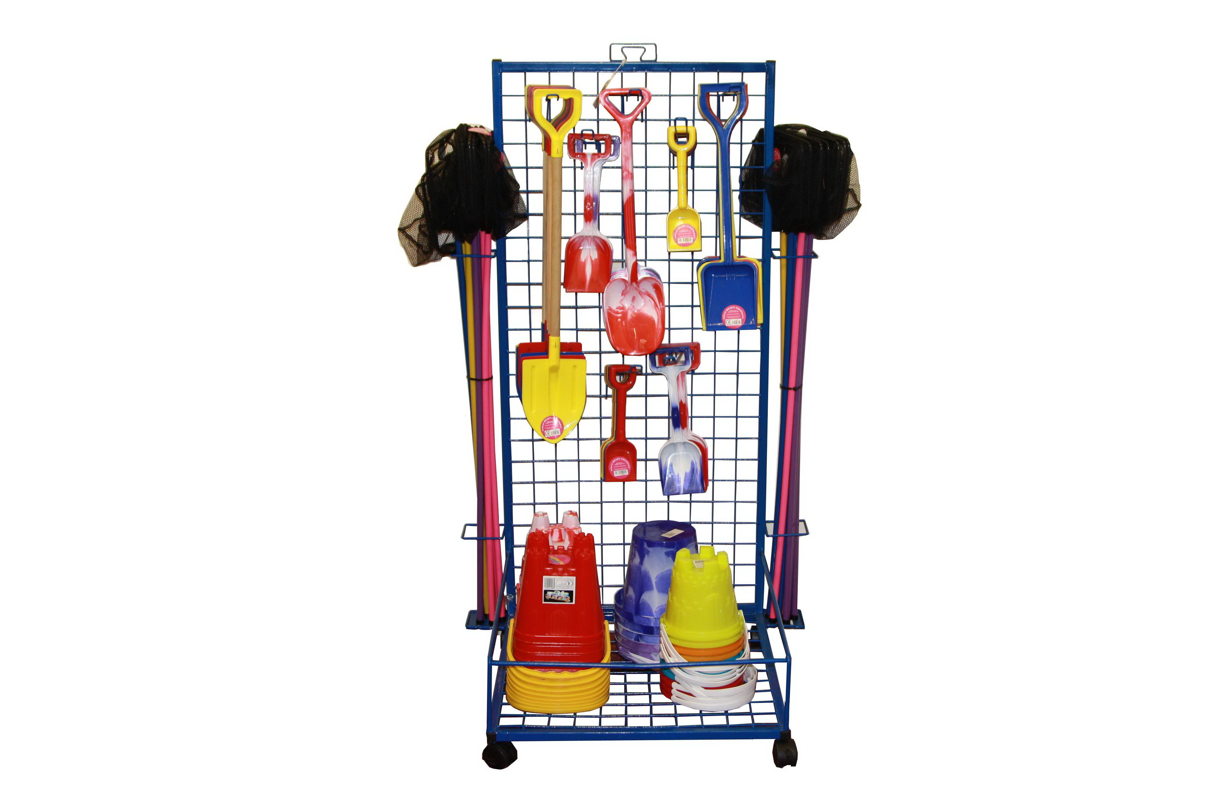 "Wire Mesh Bucket & Spade Stand H-53"" x W-24"" x D-23"""