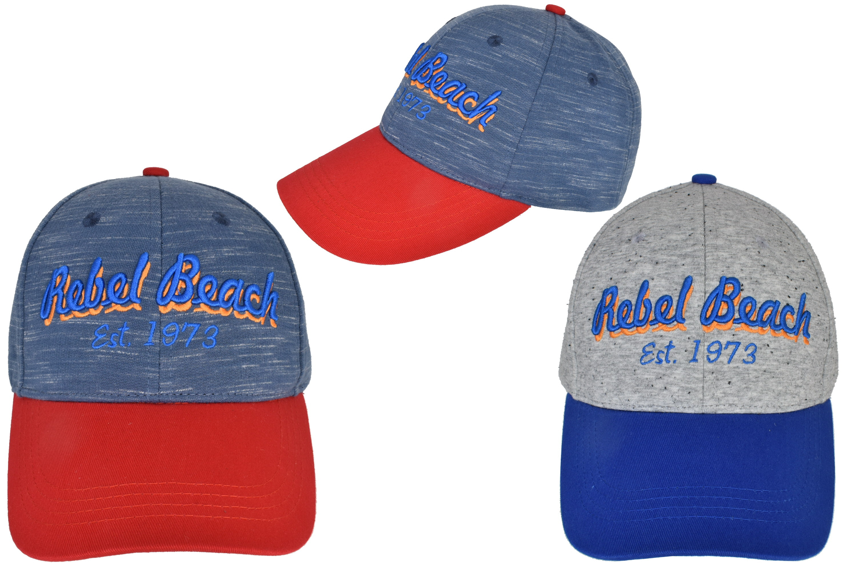 Cotton Baseball Cap Two Tone Rebel Beach 2 Assorted