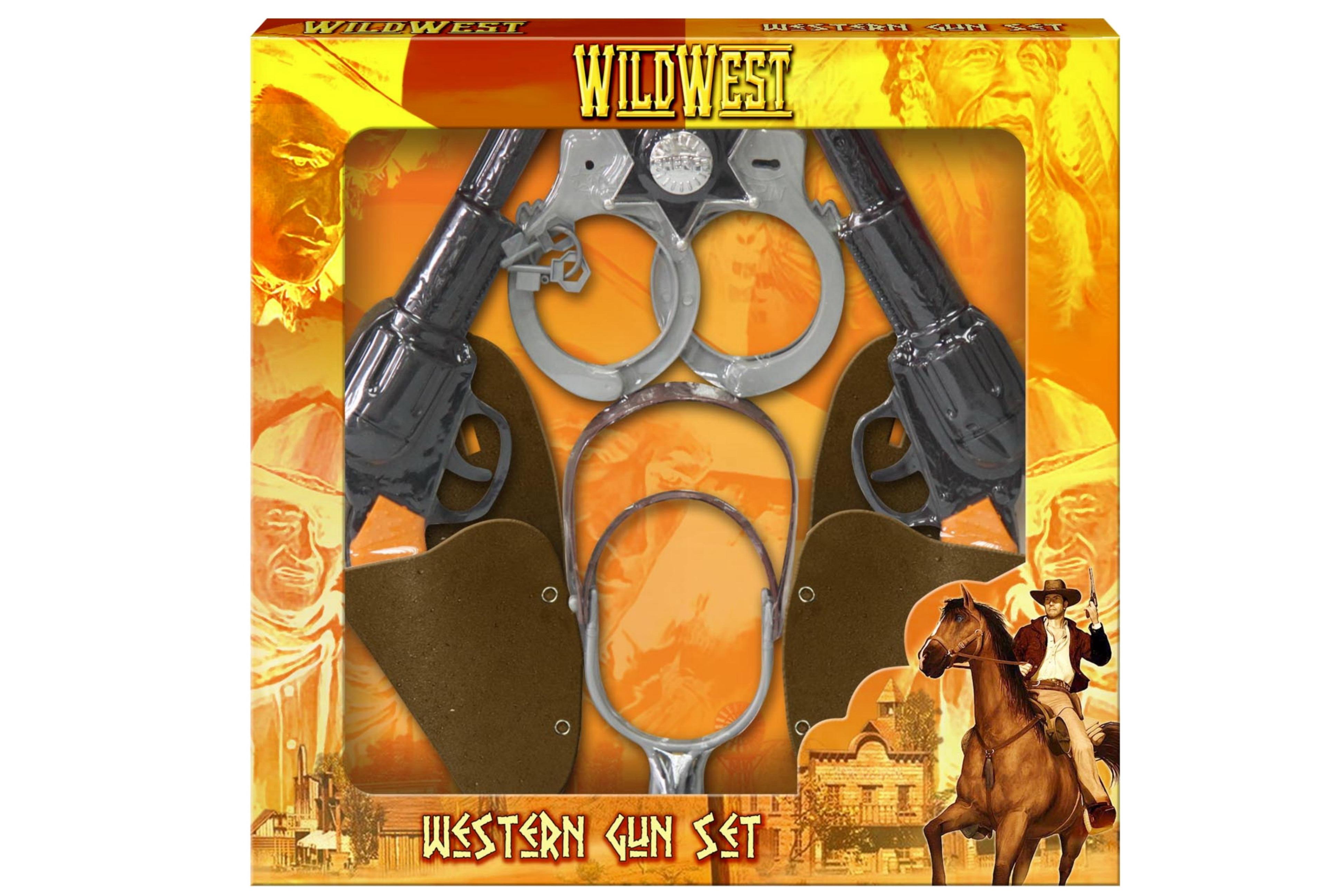 Twin Cowboy Gun & Holster Playset In Window Box