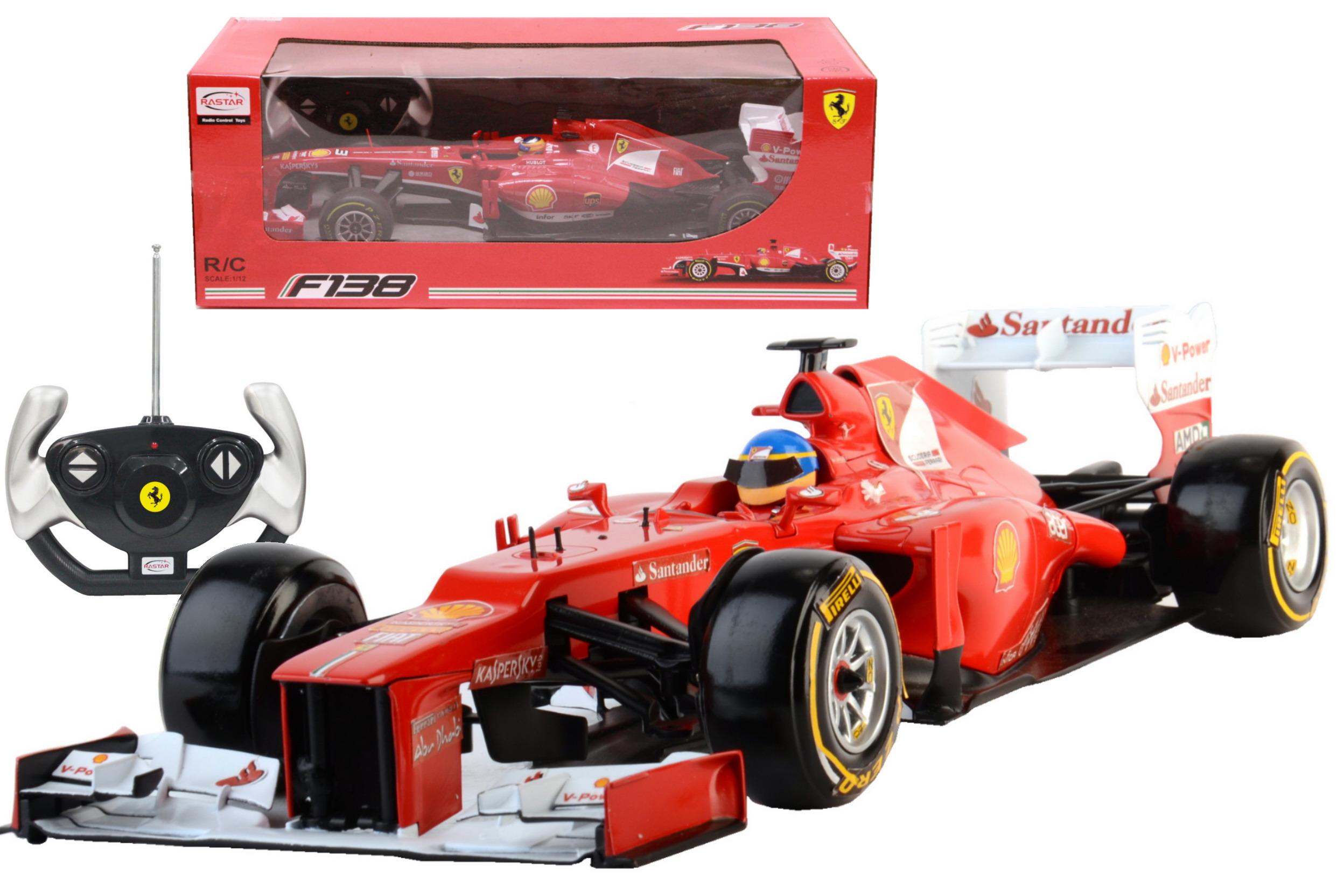 R/C Ferrari F1 Racing Car 1:12sc In Window Box