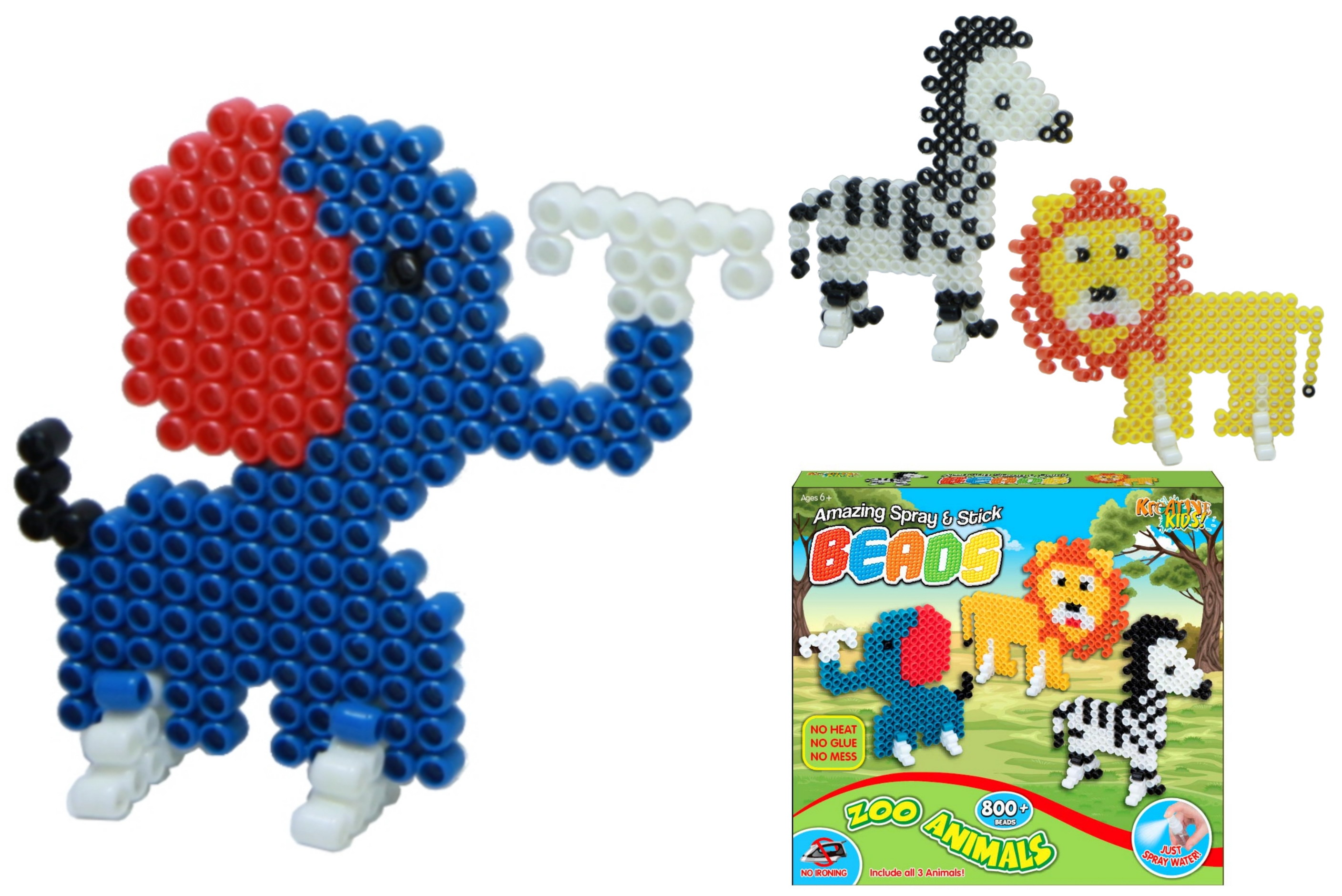 800pc Superbeads Wild Animals Playset
