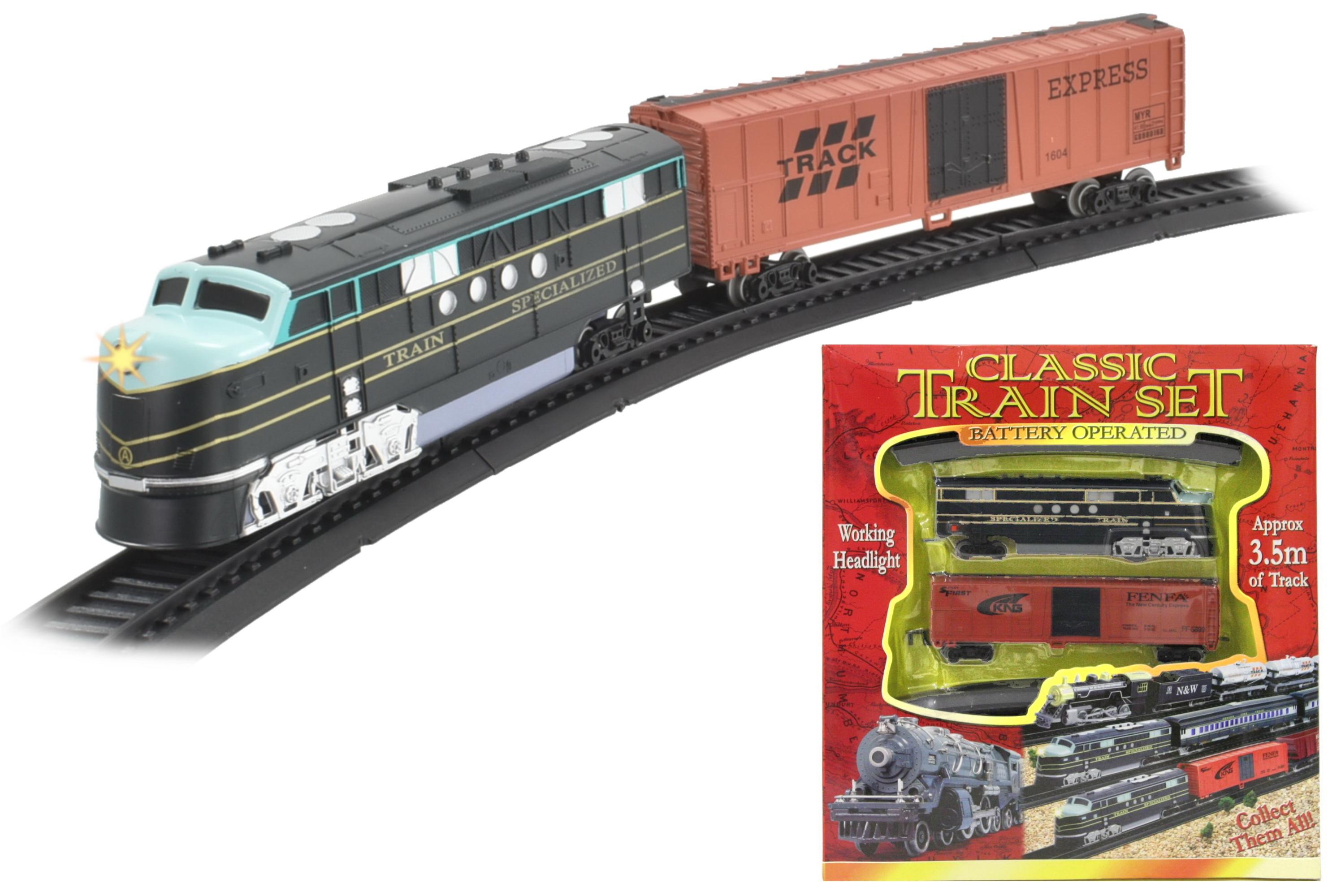 B/O Train Set - Light Up (3 Asst) - W/Box (29cm x 33cm)