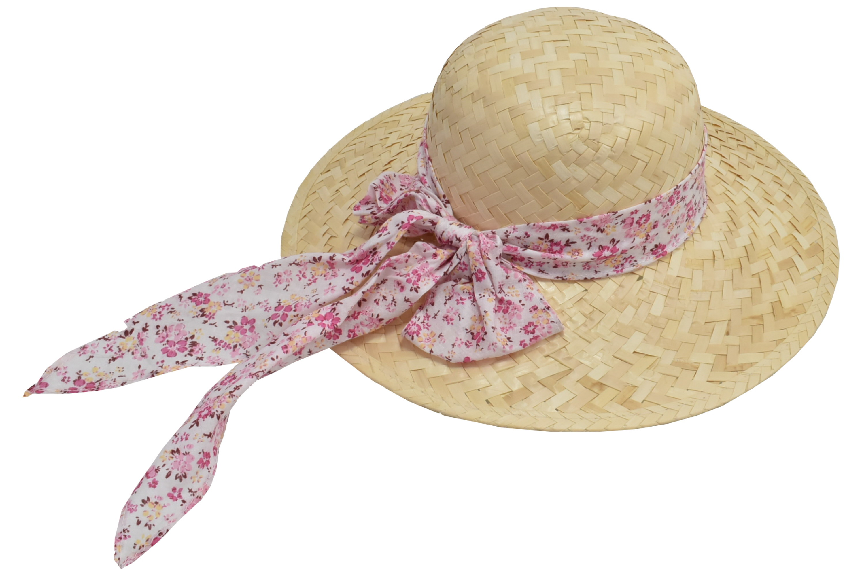Ladies Sunflower Straw Hat With Floral Band